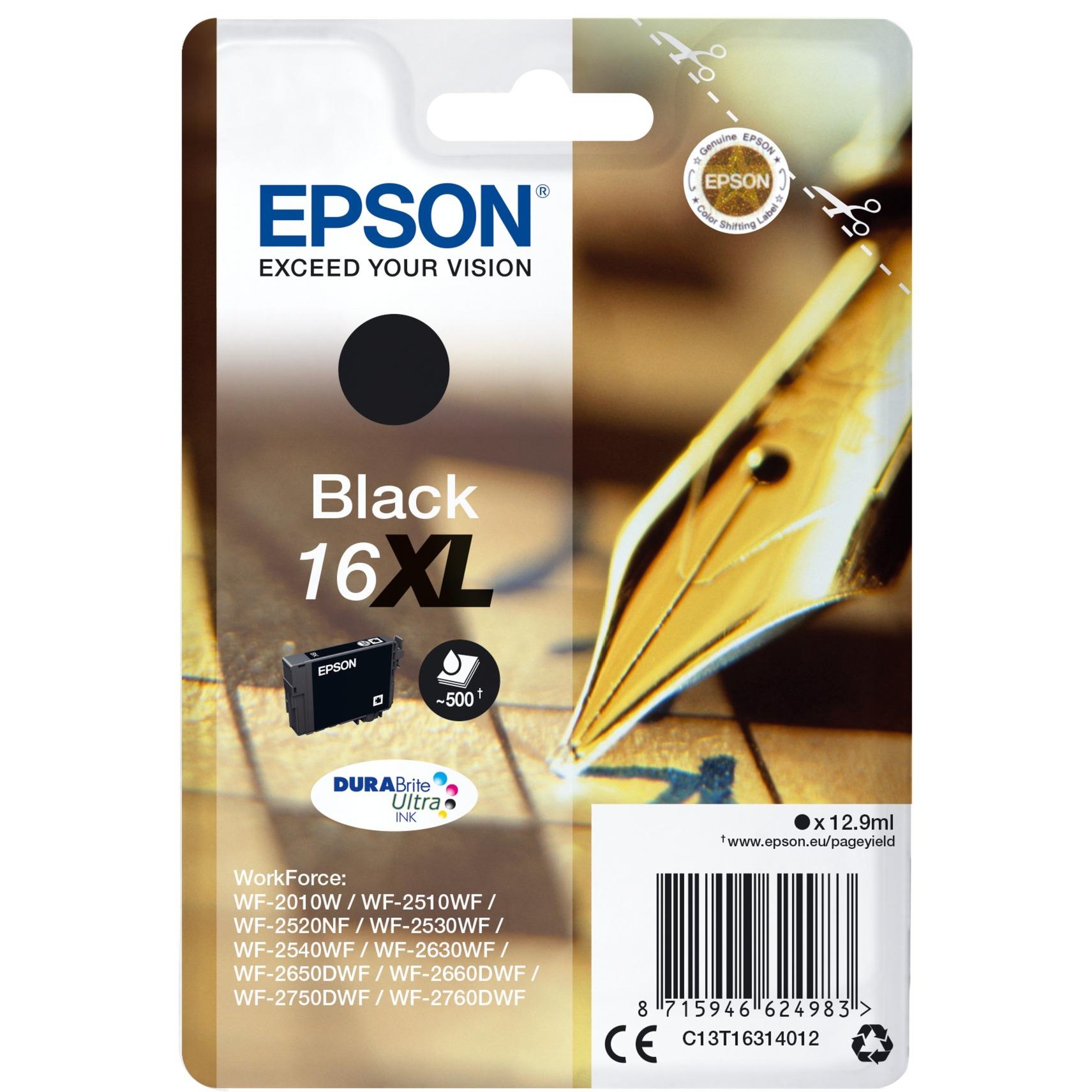 C13T16314012 12.9ml 500páginas Negro cartucho de tinta