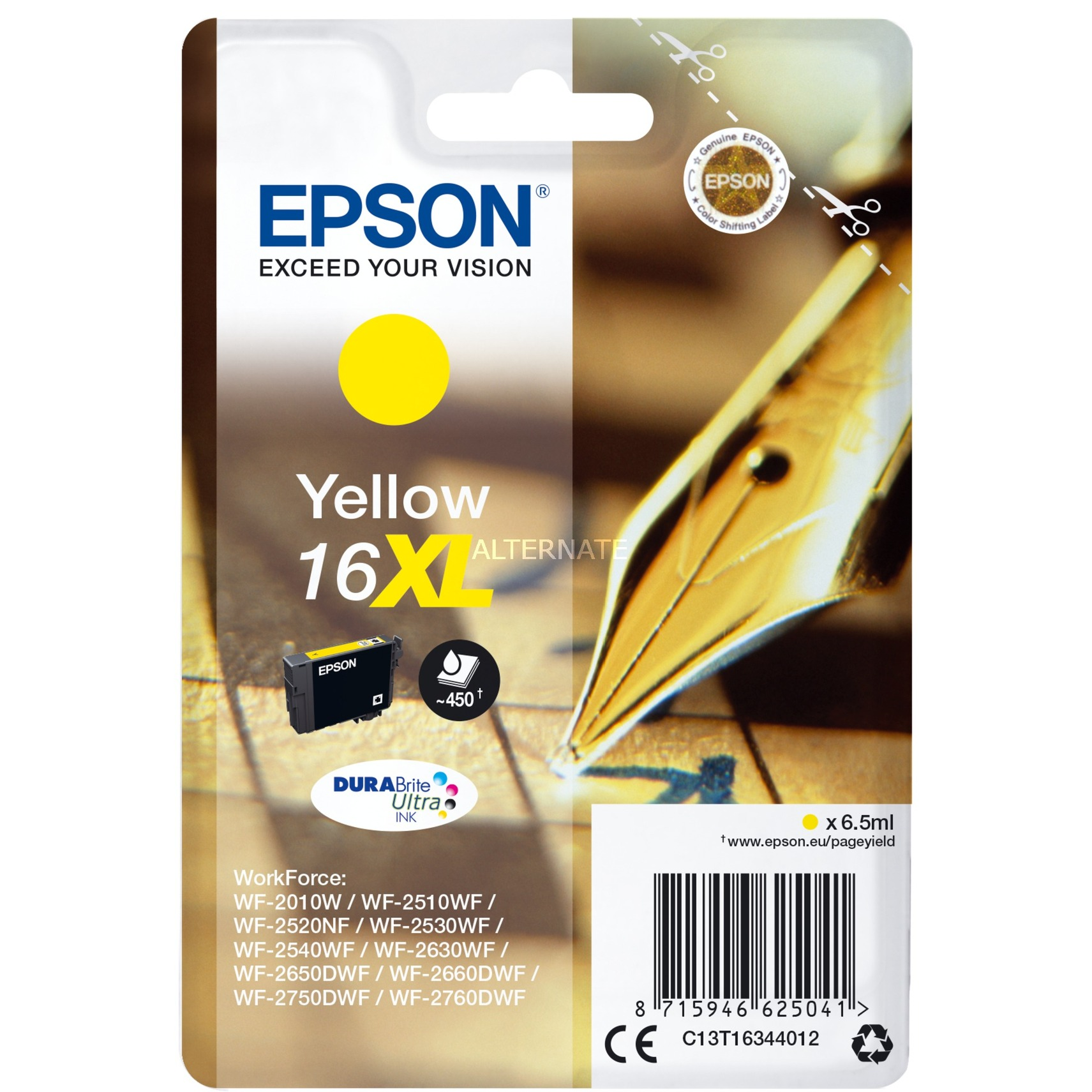 Cartucho 16XL amarillo cartucho de tinta