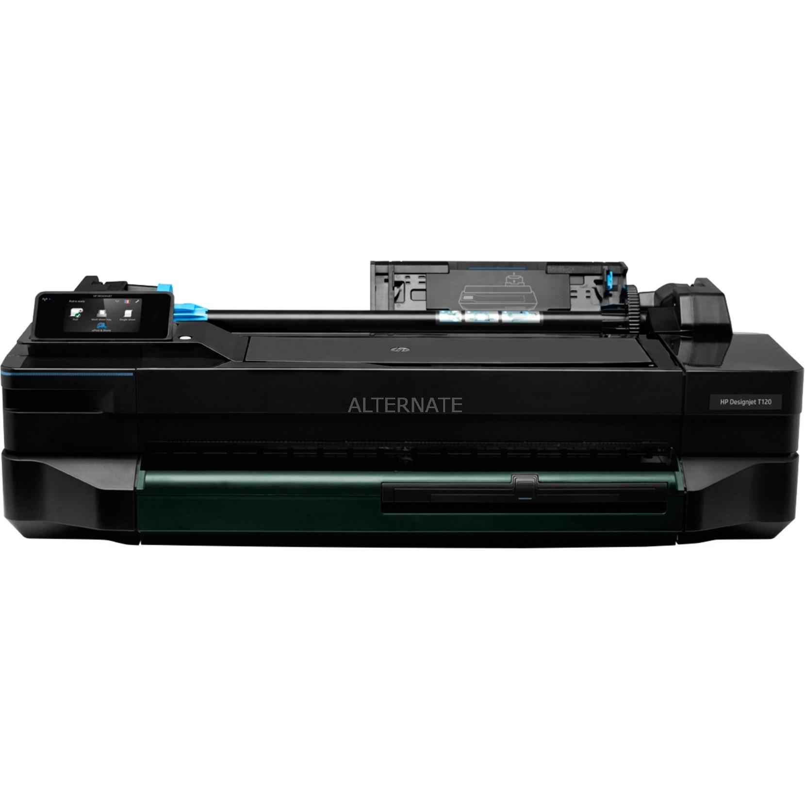 Designjet T120 impresora de gran formato Color 1200 x 1200 DPI Inyección de tinta térmica 610 x 1897 mm Wifi, Impresora de chorro de tinta