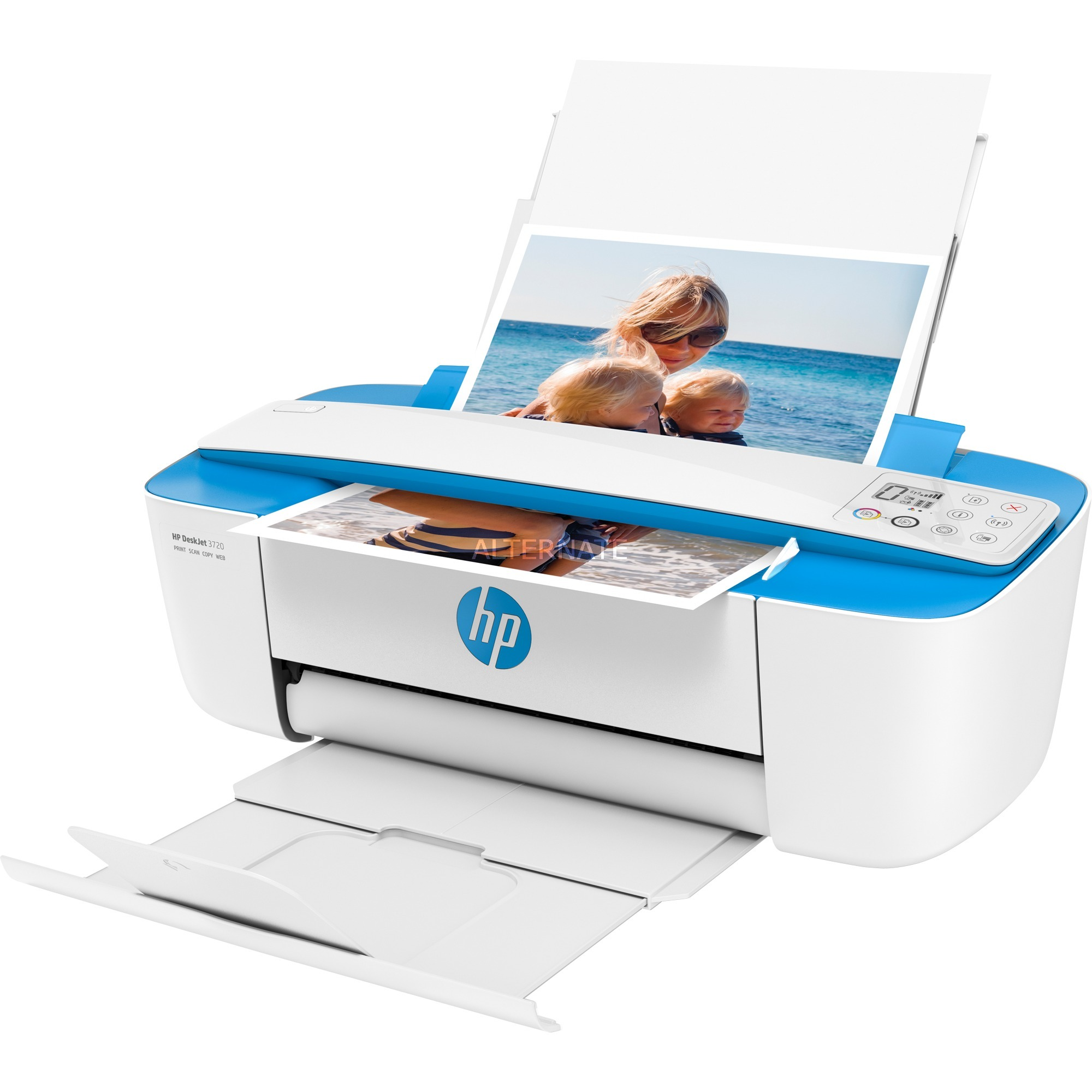 DeskJet 3720 Inyección de tinta térmica 8 ppm 4800 x 1200 DPI A4 Wifi, Impresora multifuncional
