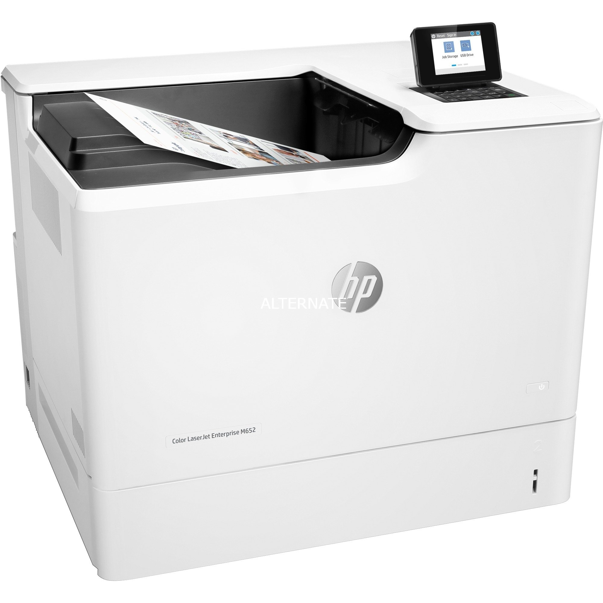 LaserJet Enterprise M652n Color 1200 x 1200 DPI A4 Wifi, Impresora láser a color