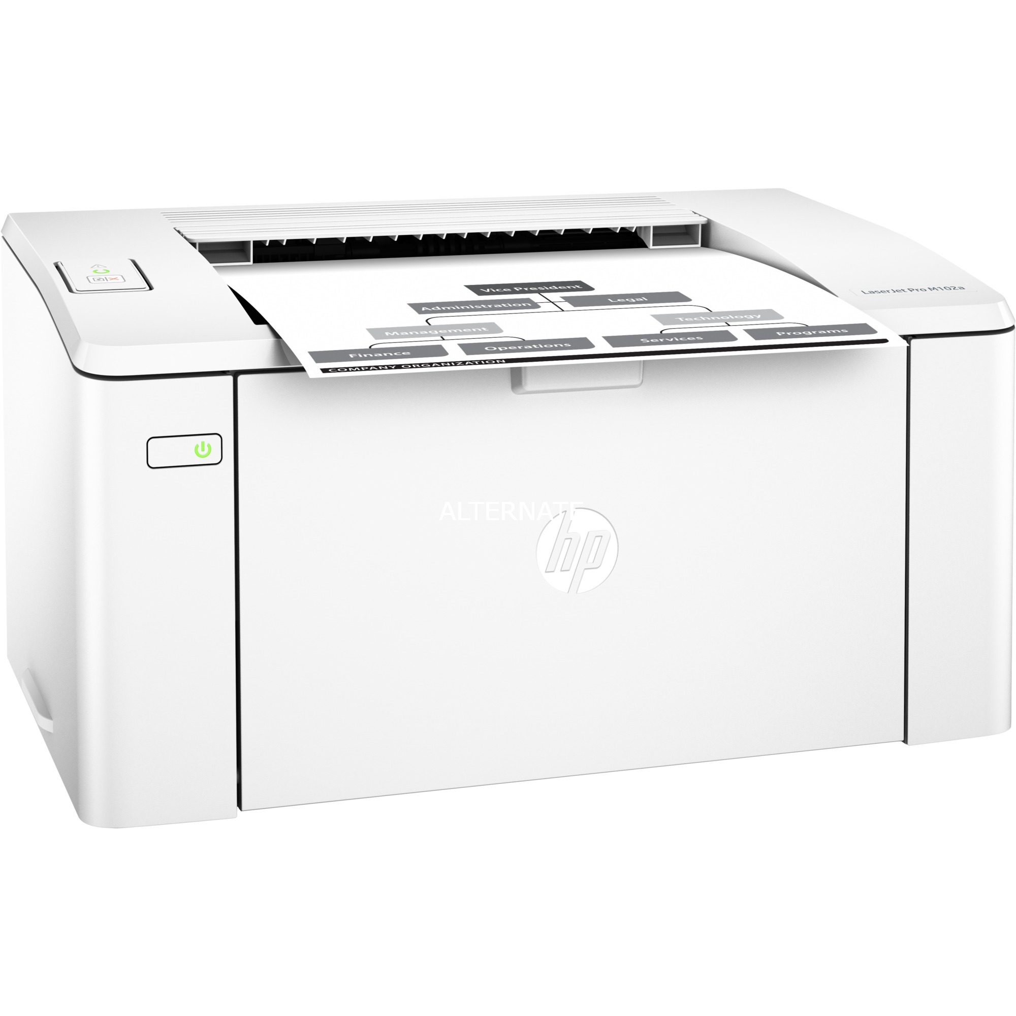 LaserJet Pro M102a 1200 x 1200 DPI A4, Impresora láser