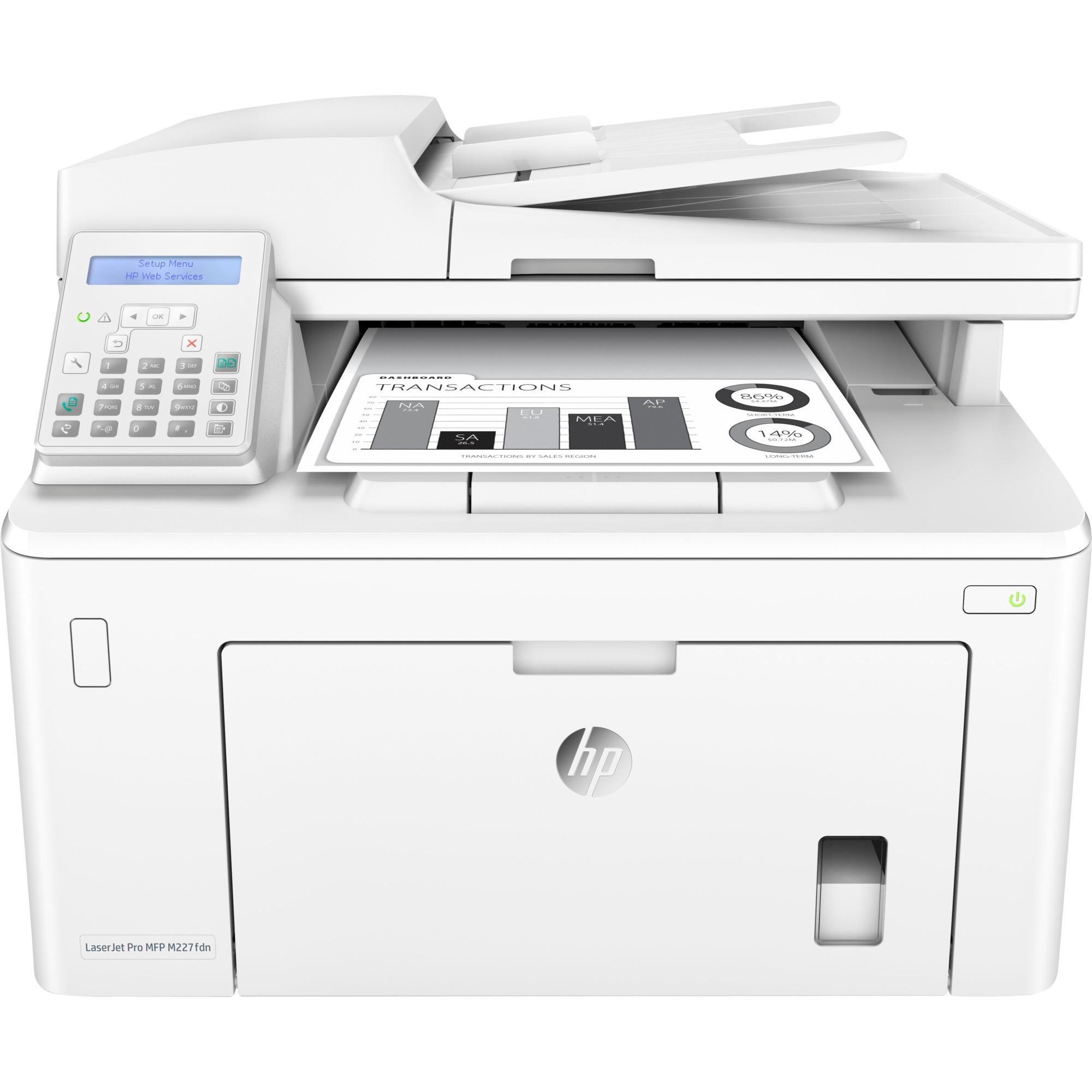 LaserJet Pro M227fdn Laser 30 ppm 1200 x 1200 DPI A4, Impresora multifuncional
