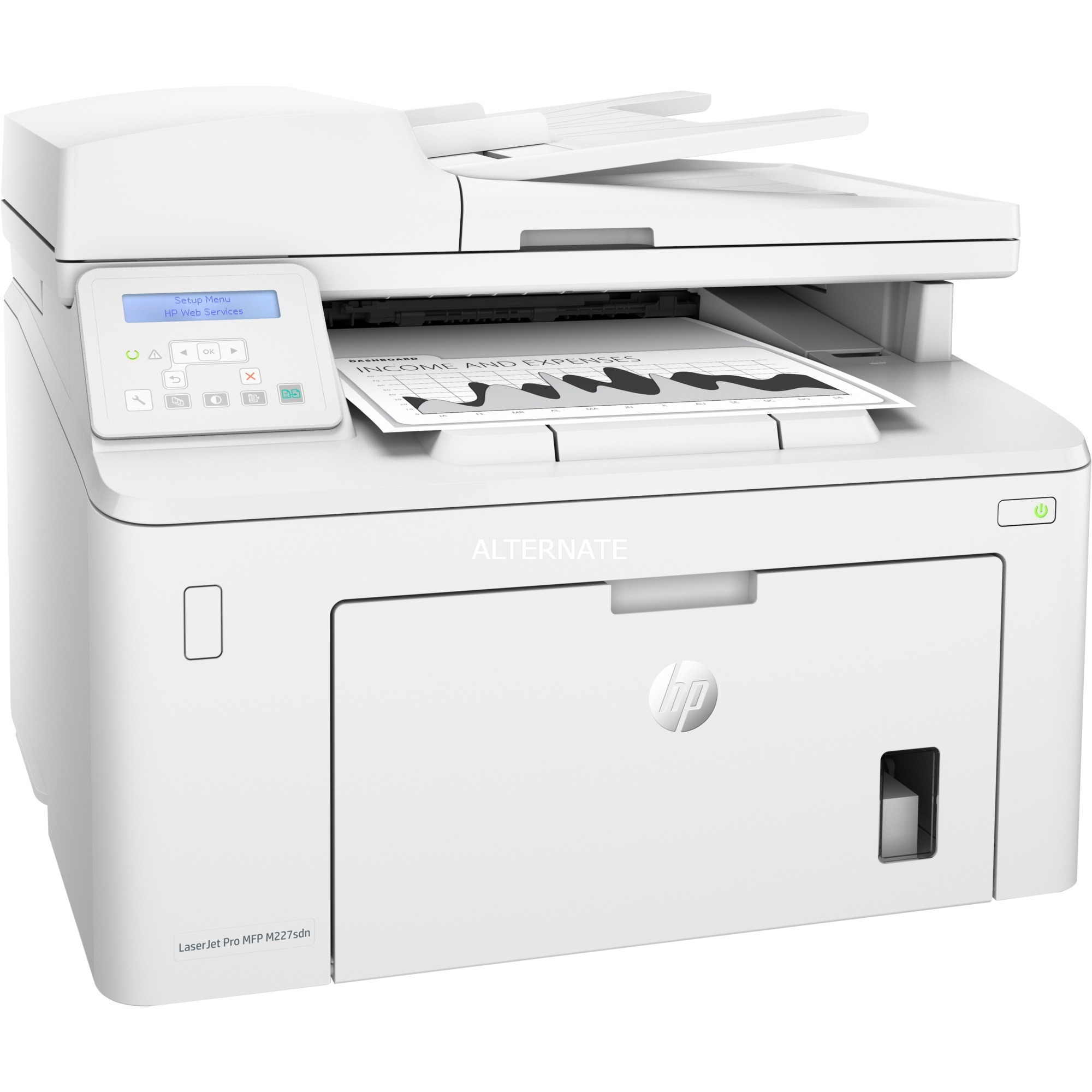 LaserJet Pro M227sdn Laser 28 ppm 1200 x 1200 DPI A4, Impresora multifuncional