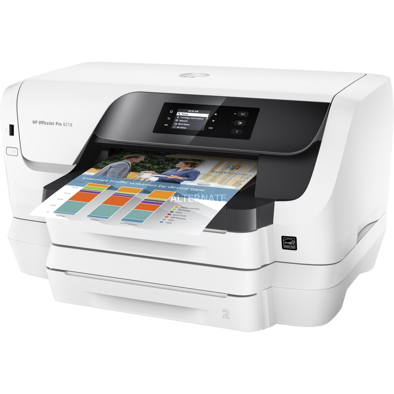 Officejet Pro 8218 impresora de inyección de tinta Color 2400 x 1200 DPI A4 Wifi, Impresora de chorro de tinta
