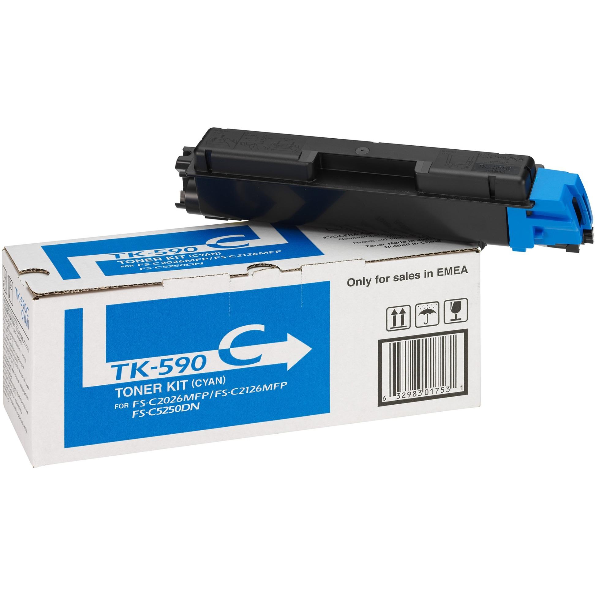 1T02KVCNL0 500páginas Cian tóner y cartucho láser