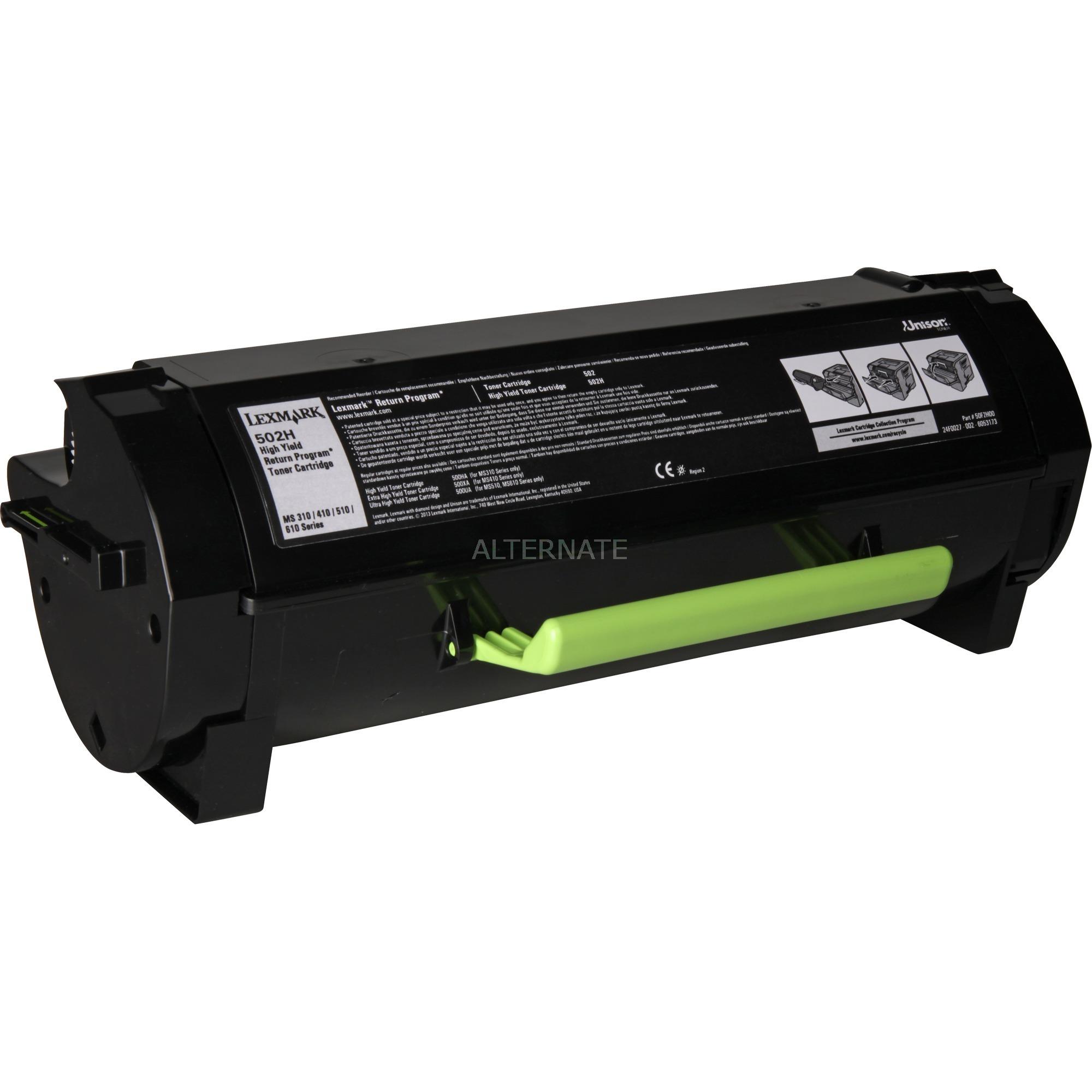 502H R Laser cartridge 5000páginas Negro, Tóner