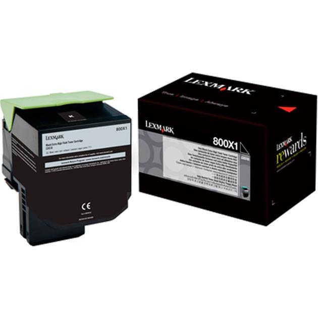 80C0X10 cartucho de tóner 8000 páginas Negro
