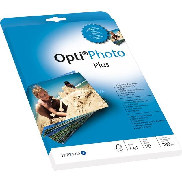 Opti Photo papel para impresora de inyección de tinta Brillo, Papel fotográfico