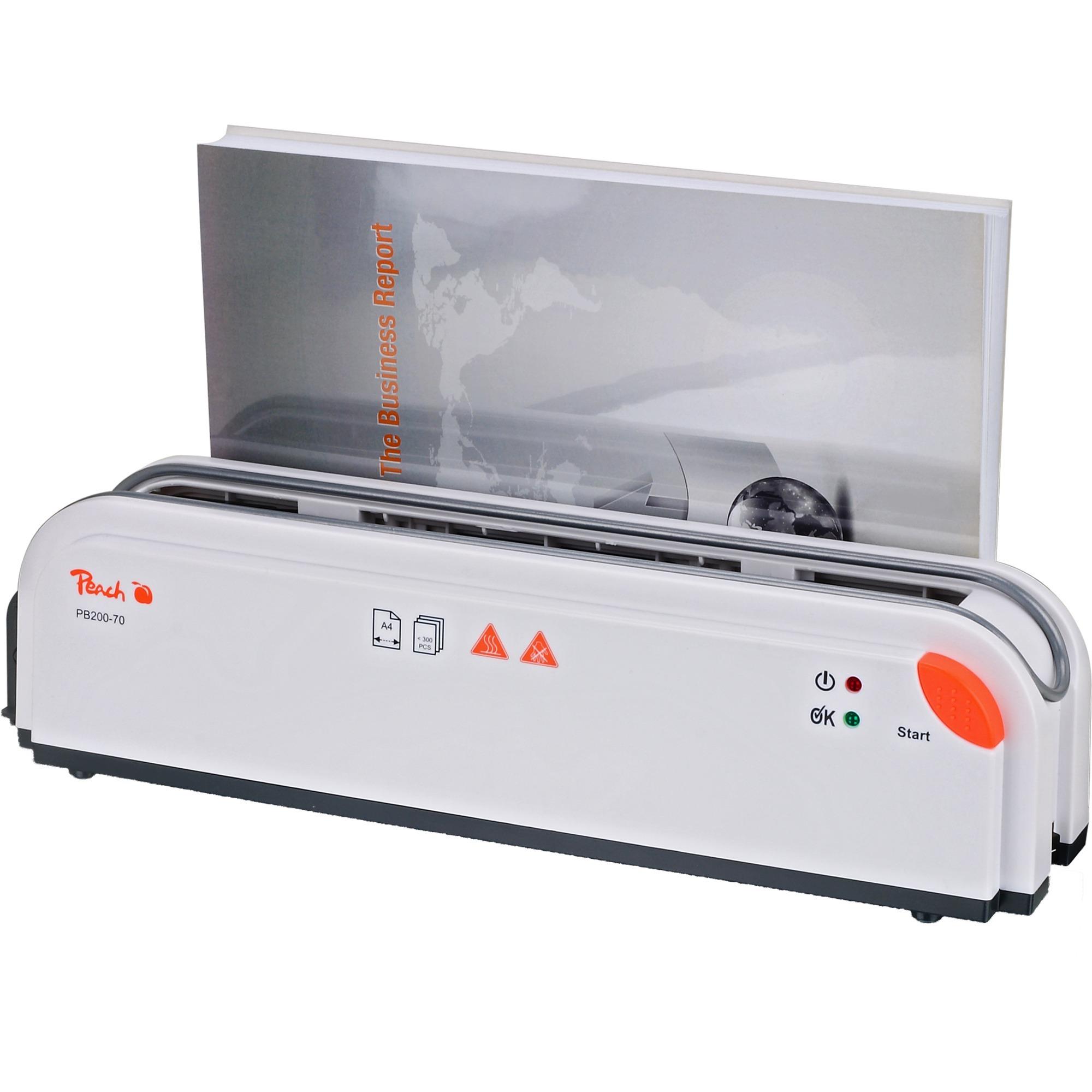 PB200-70 300hojas 60s Blanco máquina de encuadernación térmica, Encuadernadora