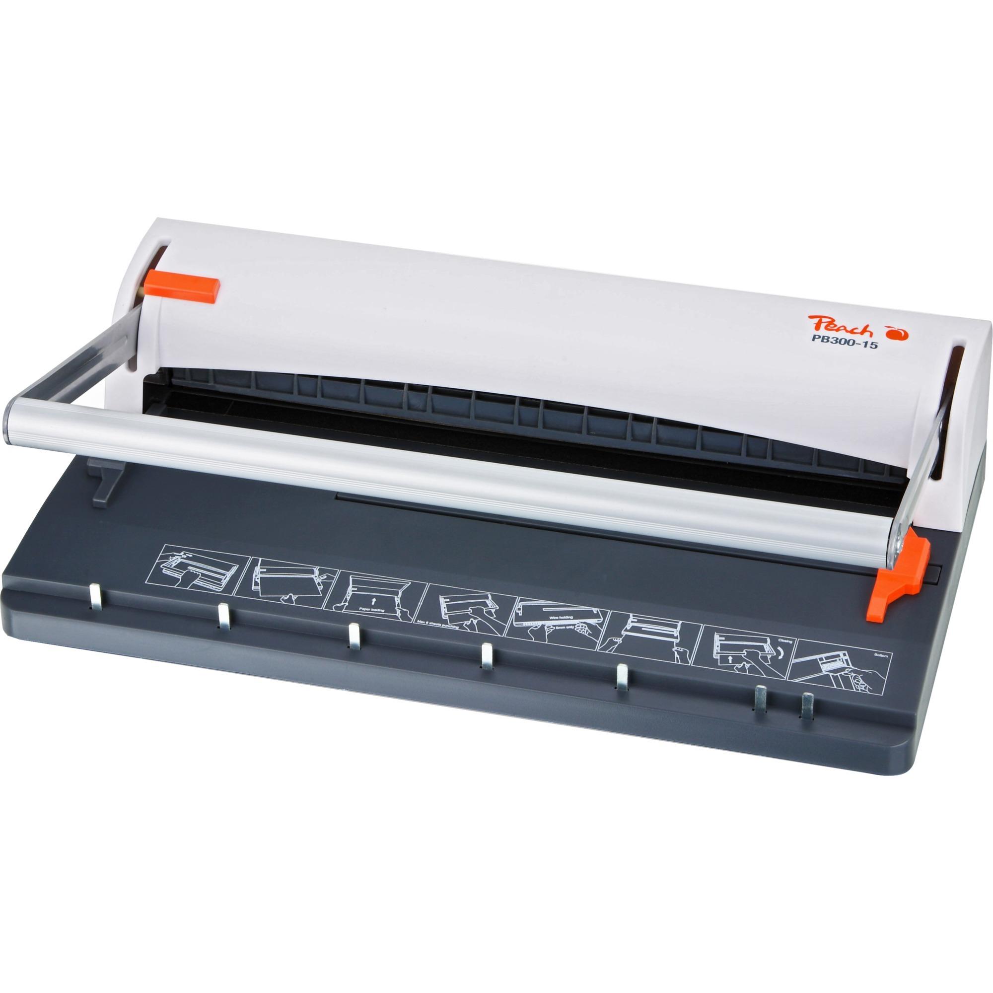PB300-15 Wire binding machine 60hojas Negro, Blanco máquina de encuadernación, Encuadernadora