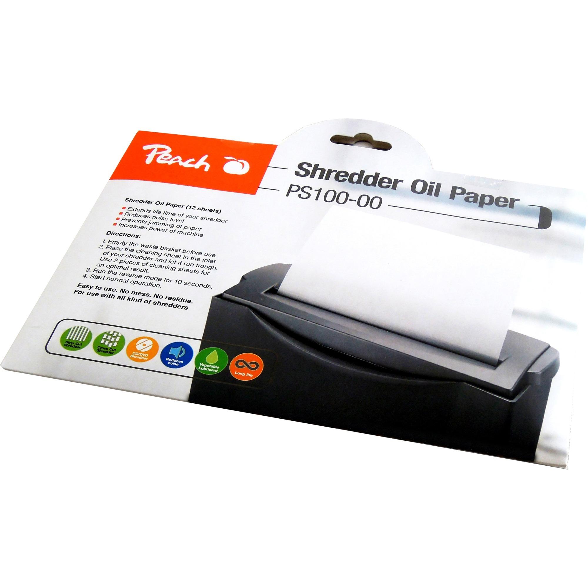 PS100-00 accesorio para destructoras de papel Aceite lubricante, Papel impregnado en aceite