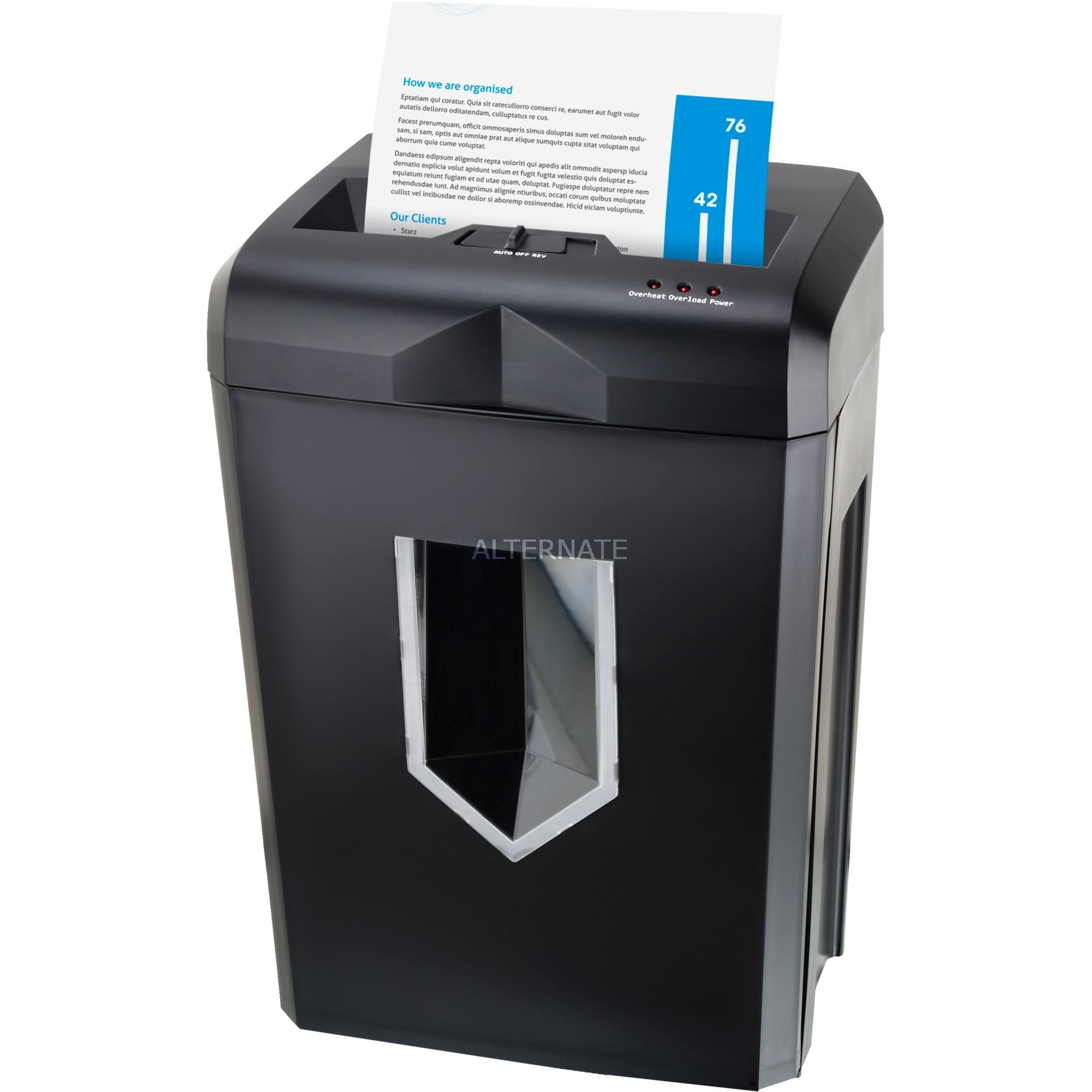 PS500-70 triturador de papel Cross shredding 58 dB Negro, Destructora de documentos