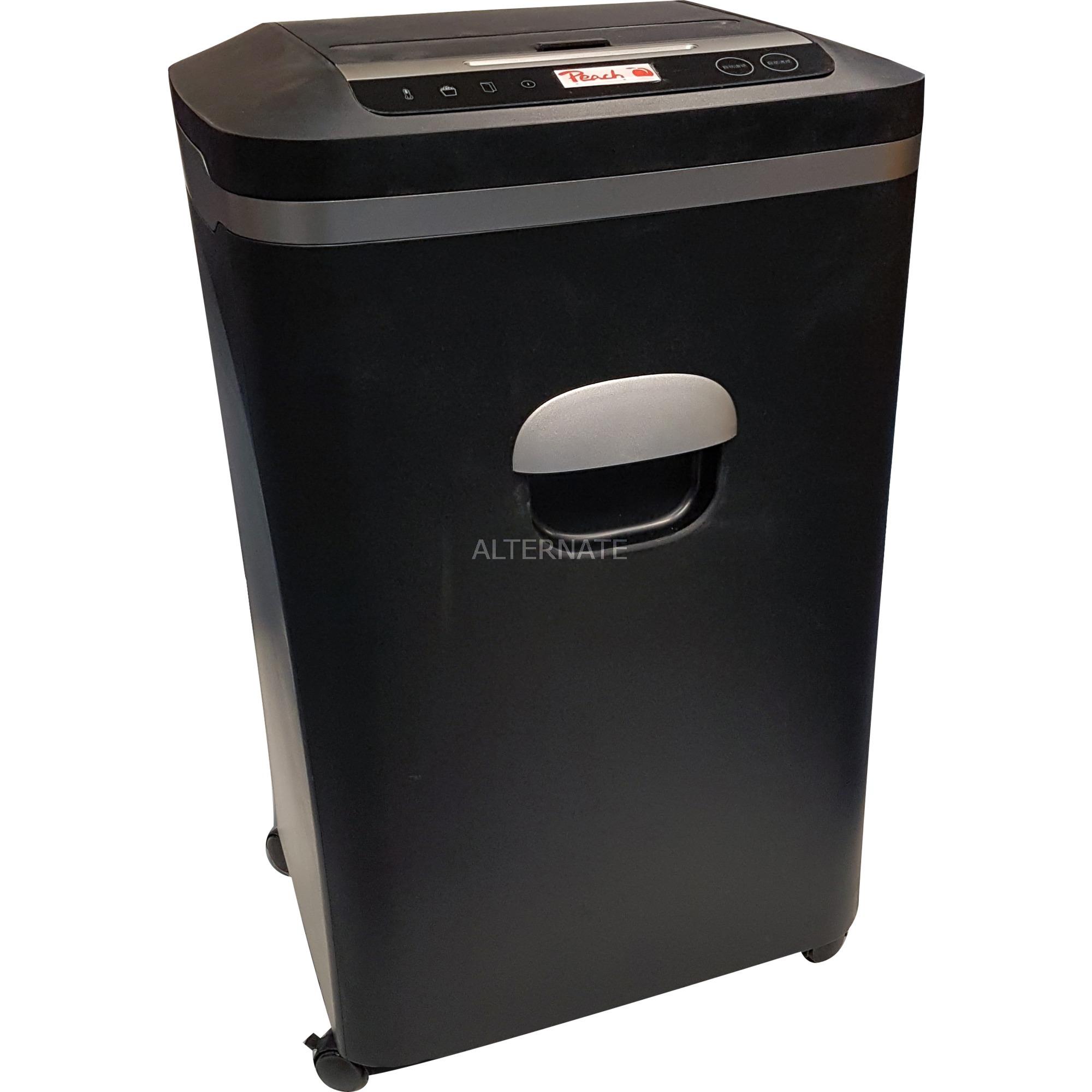 PS600-20 triturador de papel Microcorte 55 dB Negro, Destructora de documentos