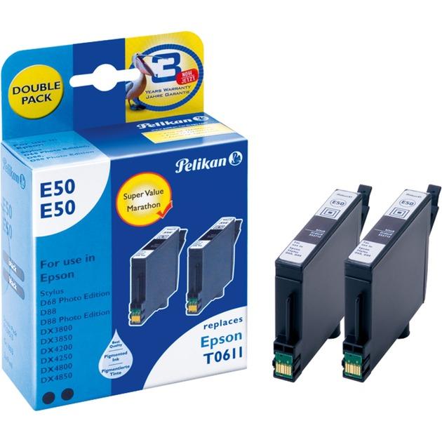 E50E50 Negro Multipack 2 pieza(s), Tinta