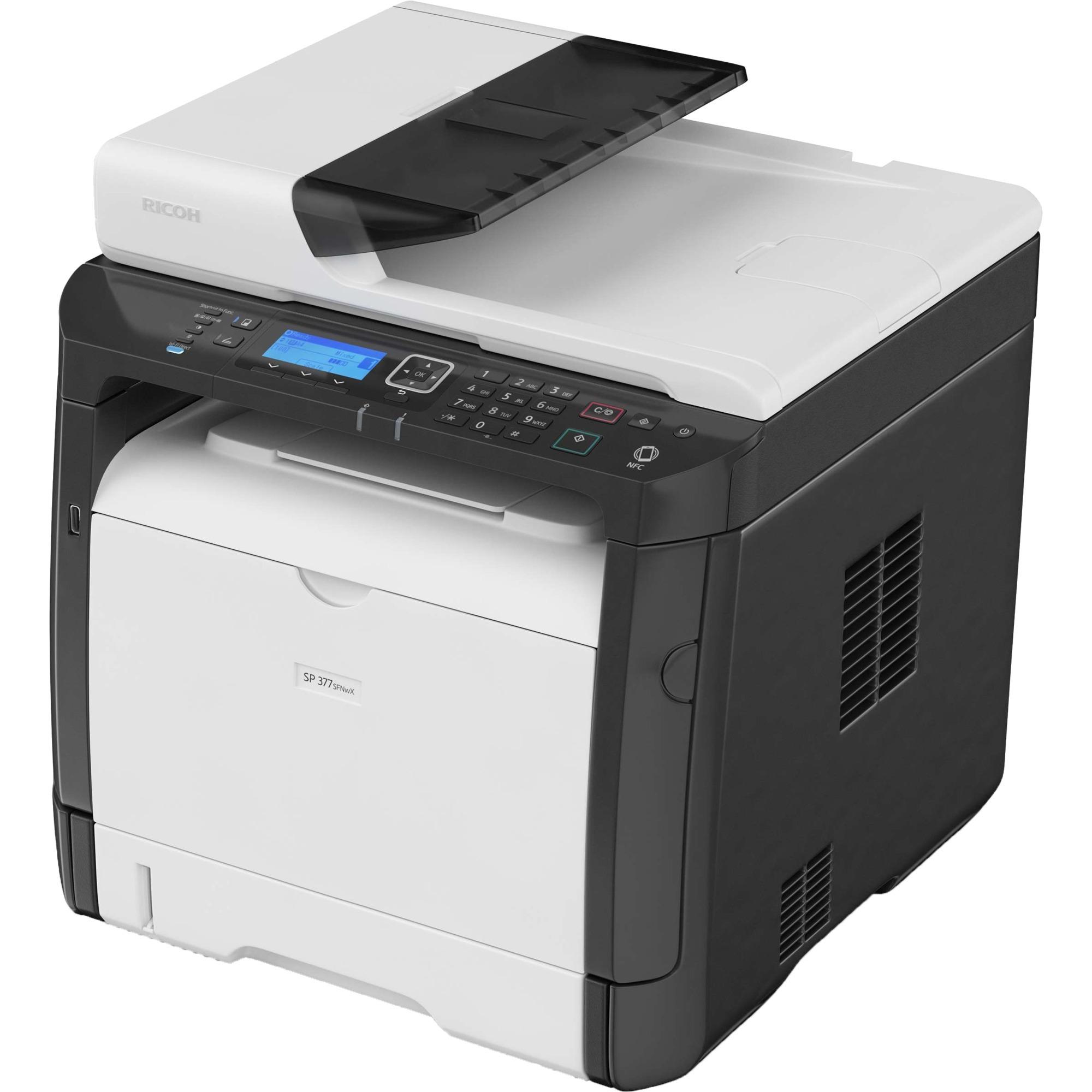 SP 377SFNwX 1200 x 1200DPI Laser A4 28ppm Wifi multifuncional, Impresora multifuncional
