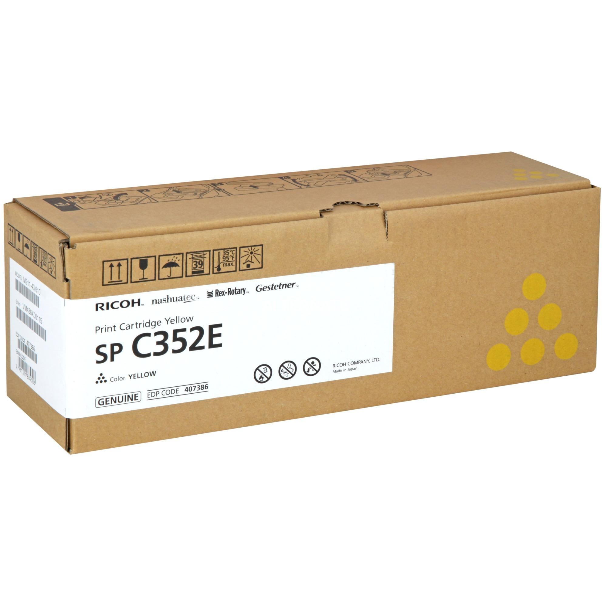 SP C352E Tóner de láser 6000 páginas Amarillo