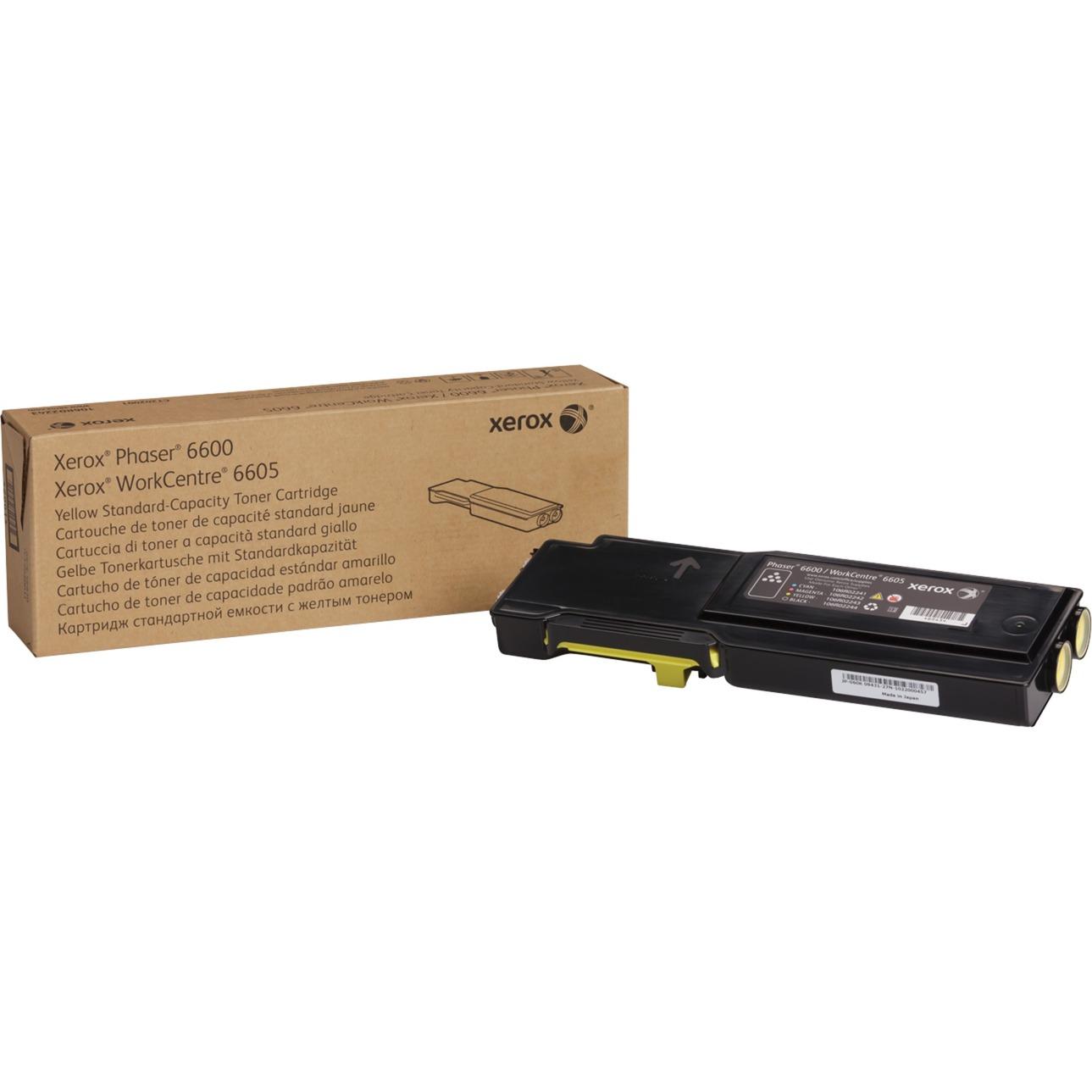 Cartucho de tóner amarillo de capacidad normal para Phaser 6600/WorkCentre 6605 (2000 páginas)