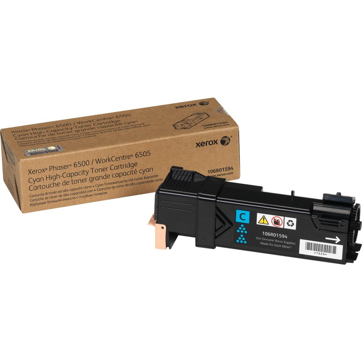 Phaser 6500/Wc 6505, Cartucho De Tóner Cián De Gran Capacidad (2.500 Páginas)