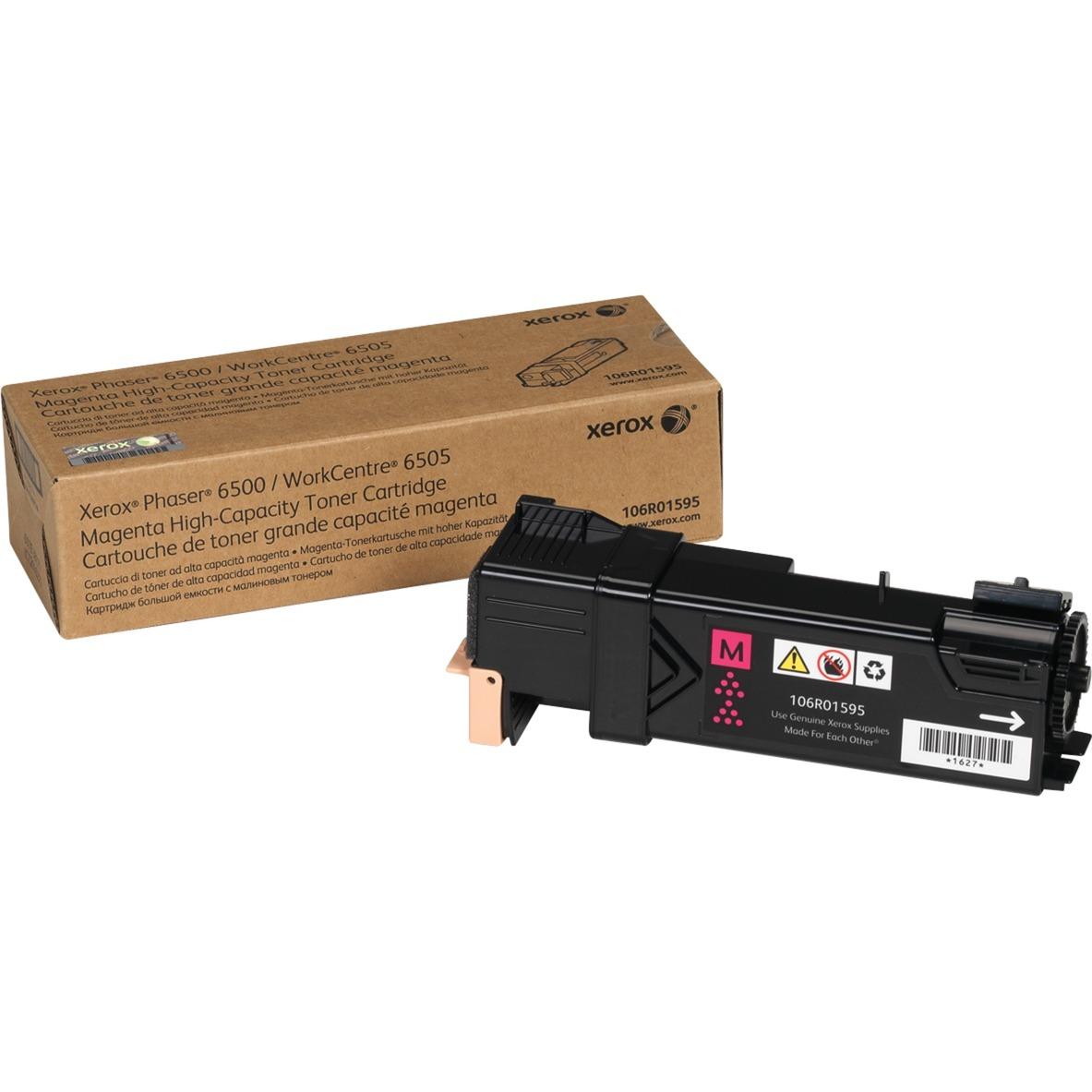 Phaser 6500/Wc 6505, Cartucho De Tóner Magenta De Gran Capacidad (2.500 Páginas)