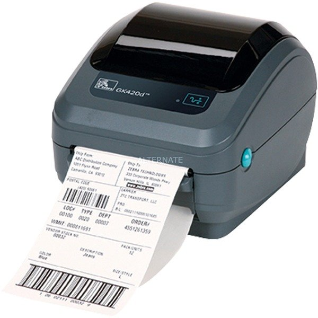 GK420d impresora de etiquetas Térmica directa 203 x 203 DPI Alámbrico