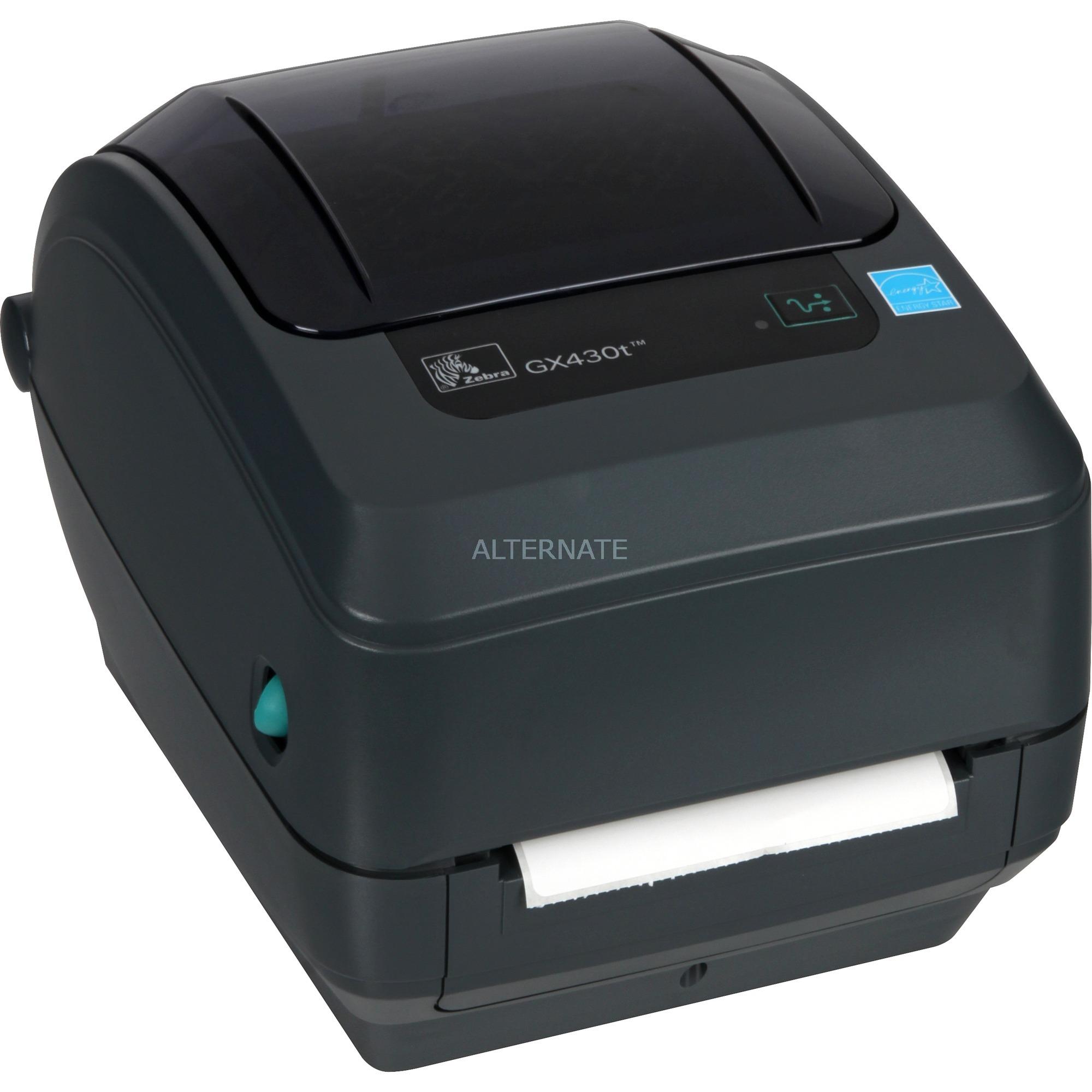 GX430t Térmica directa / transferencia térmica 300 x 300DPI impresora de etiquetas, Rotulador