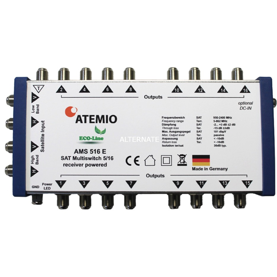 AMS516E Eco-Line 5/16, Interruptor múltiple
