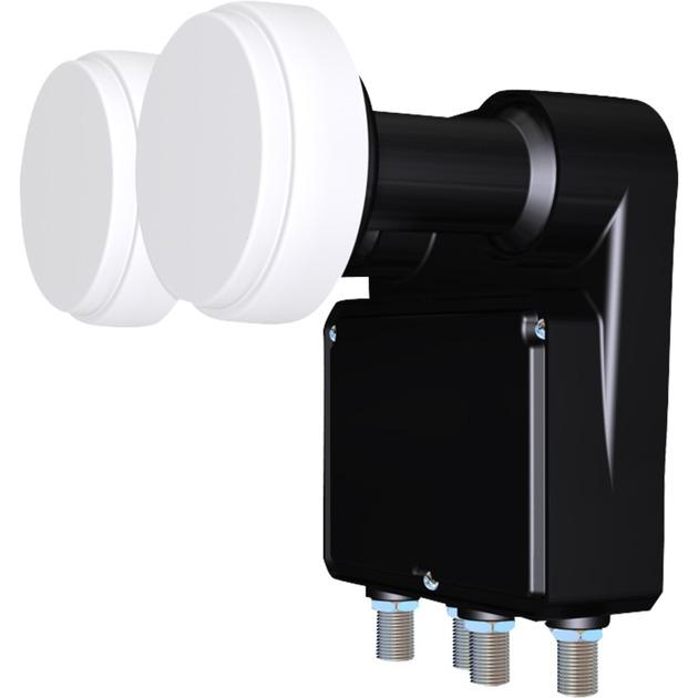 IDLB-QUDM21-MNOO6-8PP 11.7 - 12.75GHz Negro, Color blanco convertidor low noise block (lnb)