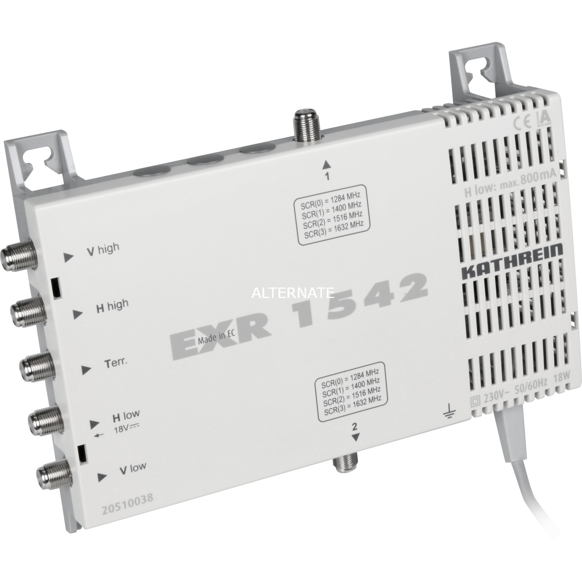 EXR 1542 conmutador múltiple para satélite 5 Entradas 2 Salidas, Interruptor múltiple