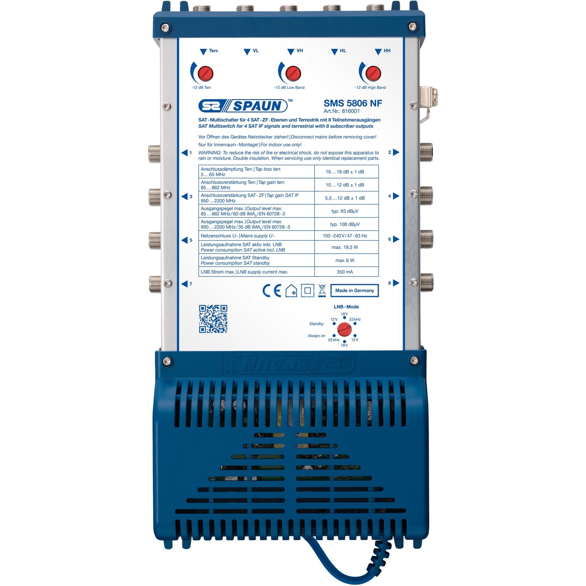 SMS 5806 NF, Interruptor múltiple