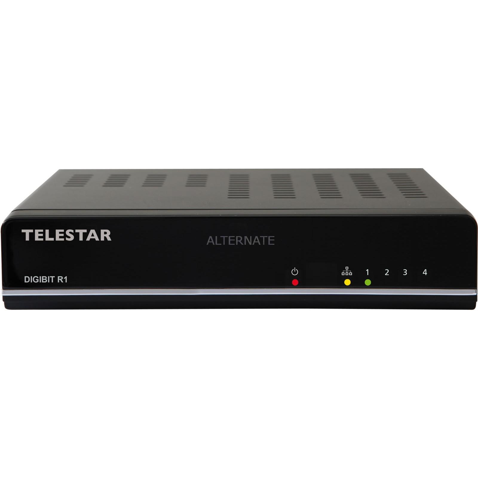 DIGIBIT R1 AV transmitter Negro, Receptor de satélite
