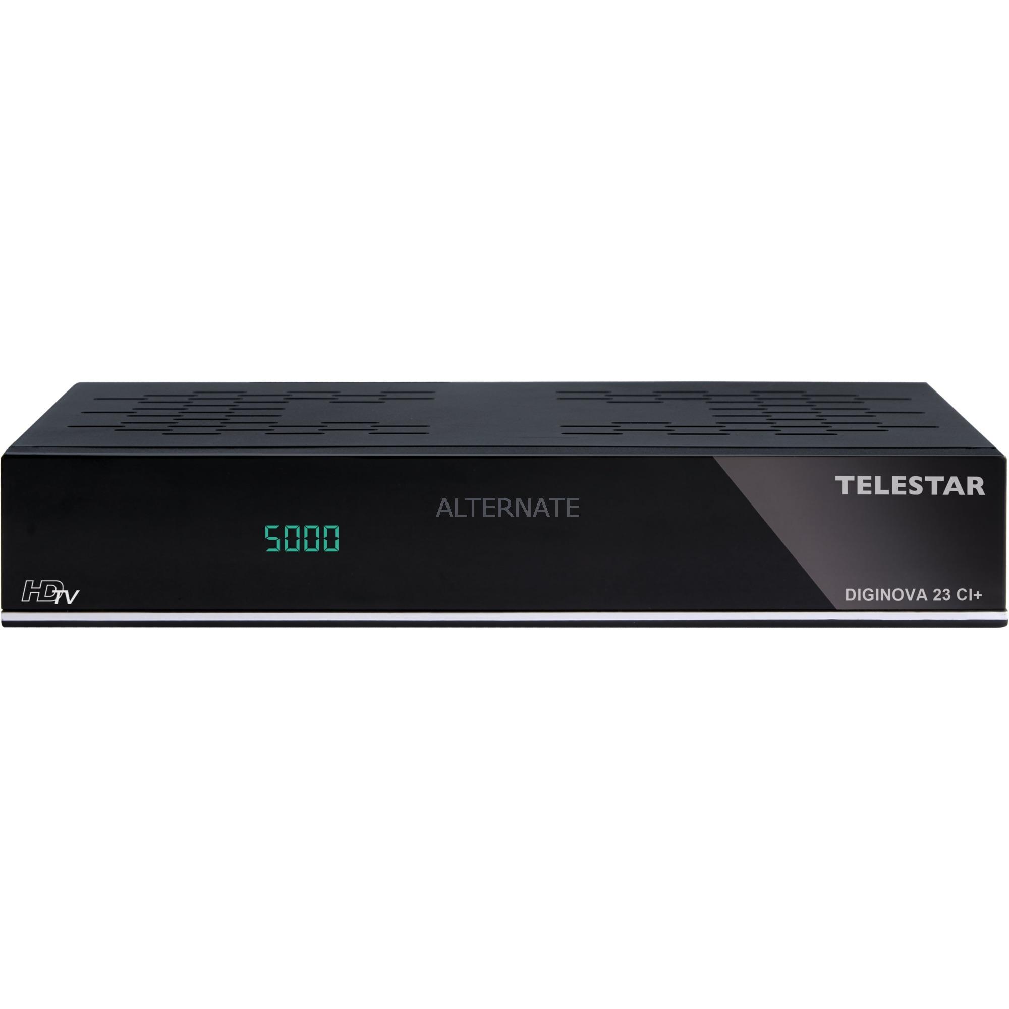 DIGINOVA 23 CI+ tV set-top boxes, Receptor de satélite