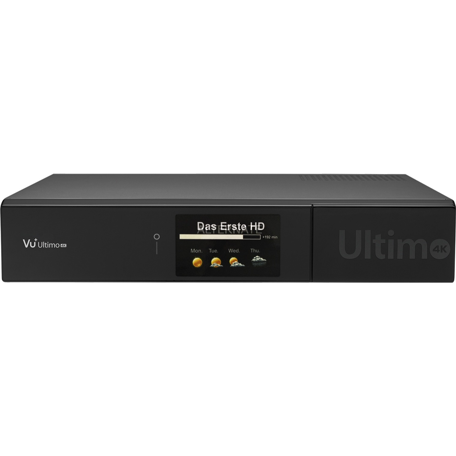 Ultimo 4K tV set-top boxes Satélite Alta Definición Total Negro, Receptor vía satélite/cable