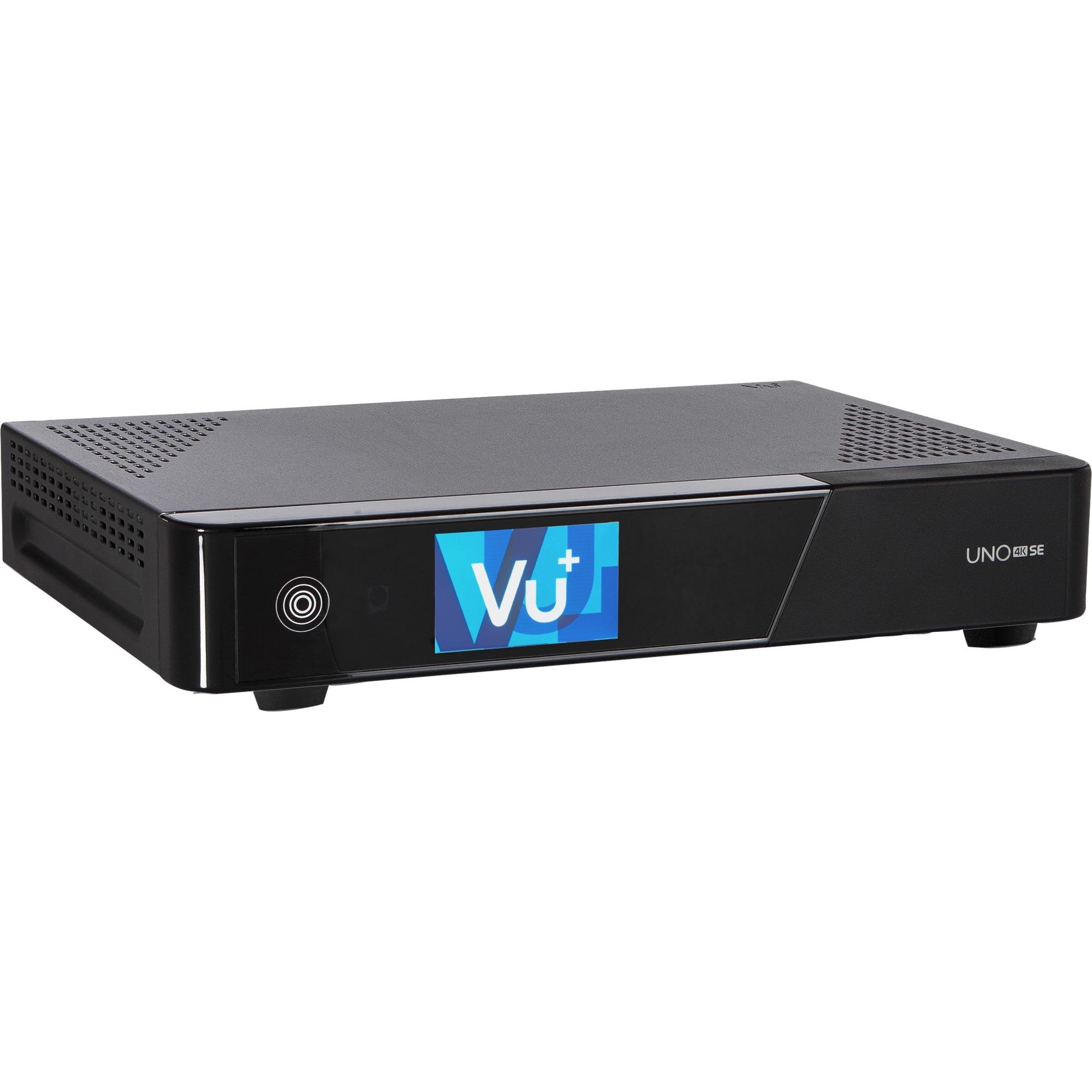 Uno 4K SE tV set-top boxes Alta Definición Total Negro, Receptor de satélite