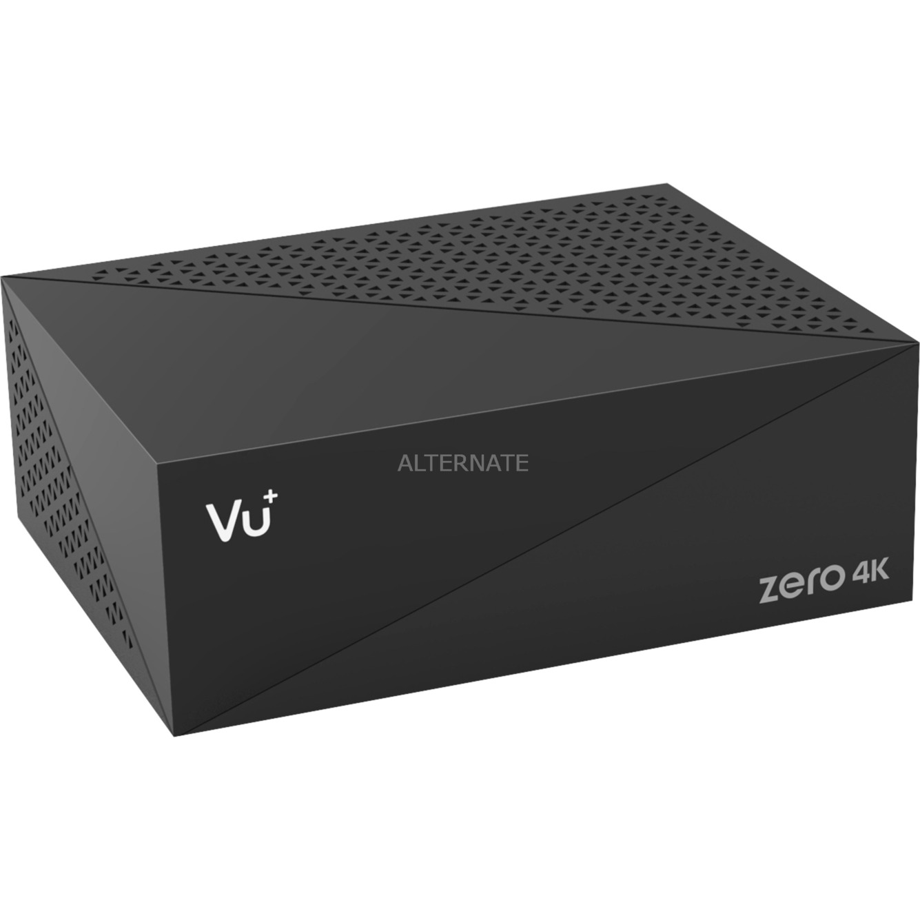 Zero 4K tV set-top boxes Cable, Ethernet (RJ-45), Satélite Alta Definición Total Negro, Receptor terrestre / cable
