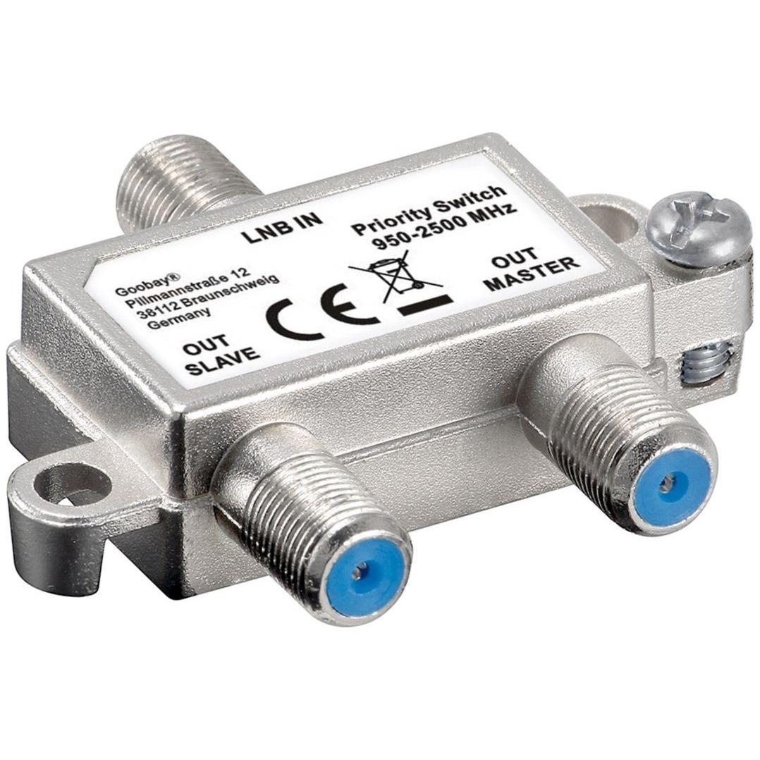 51445 adaptador de cable LNB 2xSAT Plata, Interruptor/Conmutador