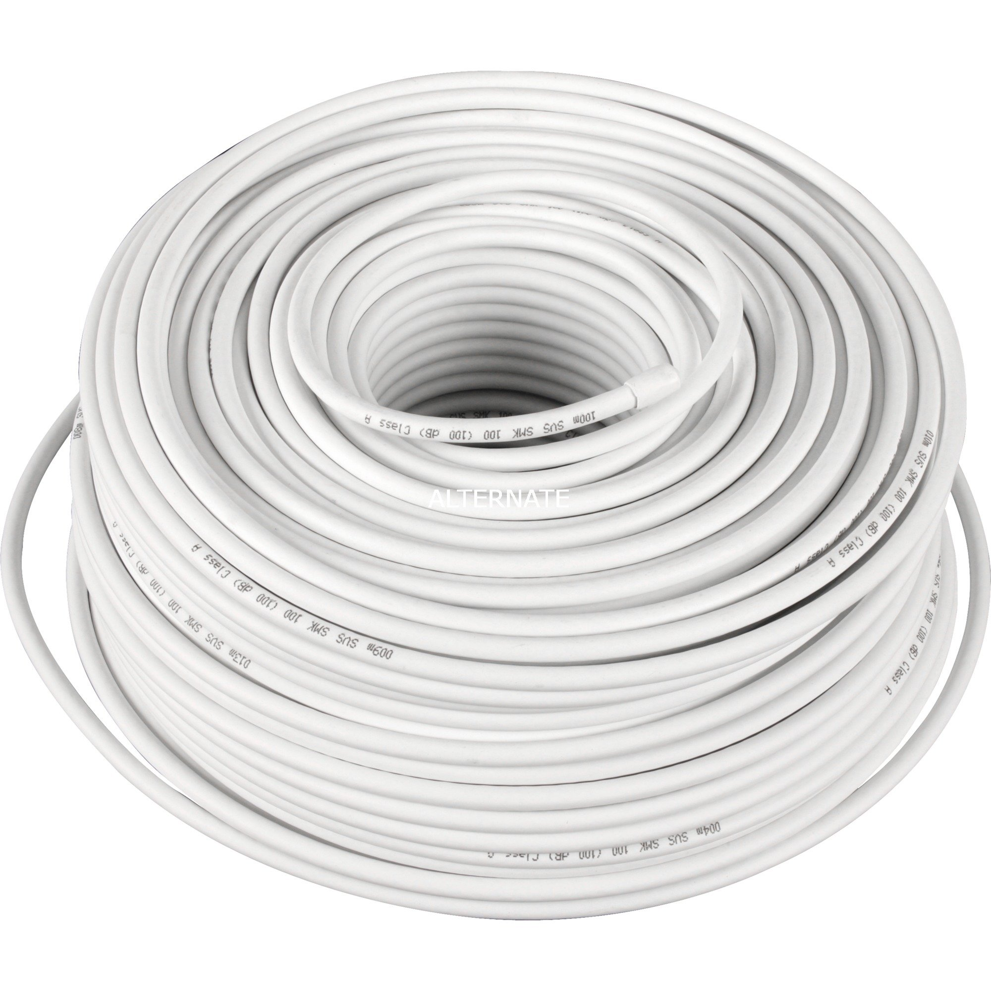 67096 cable coaxial 100 m Blanco