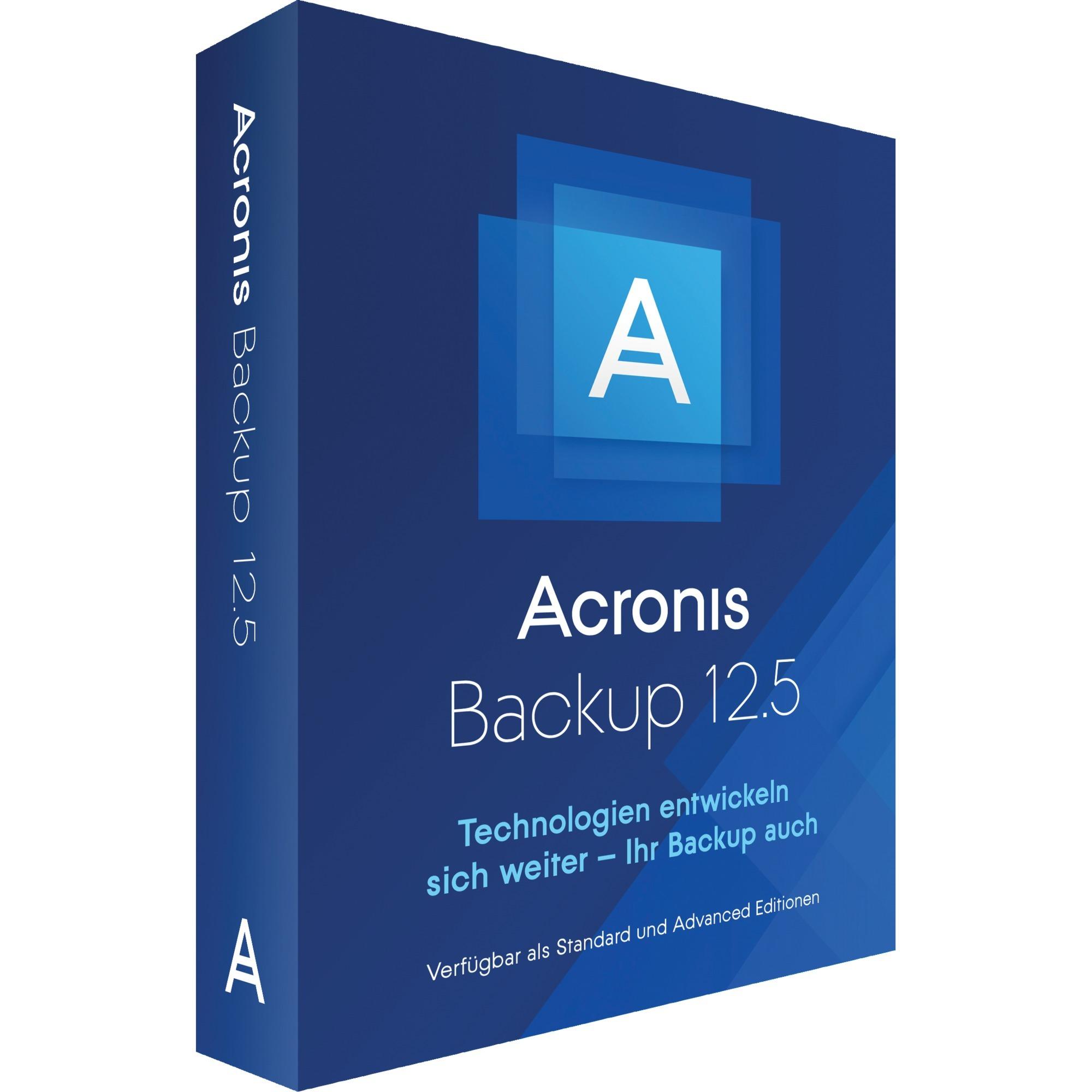 Backup 12.5 Advanced Workstation, Software