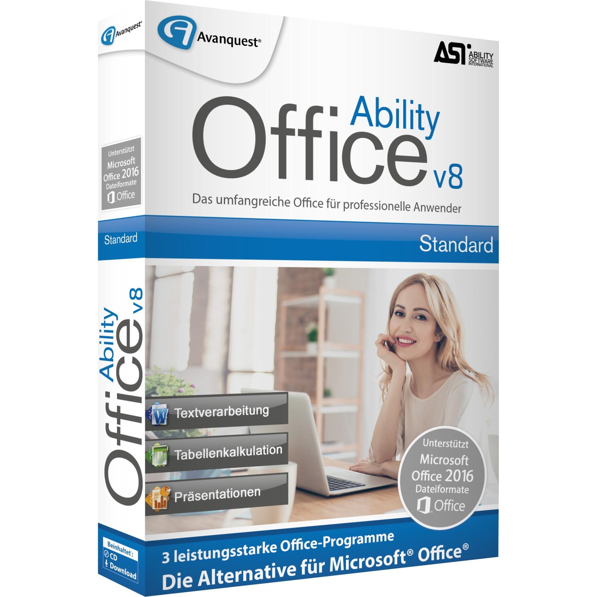 Büroanwendungen | Ability Office 8