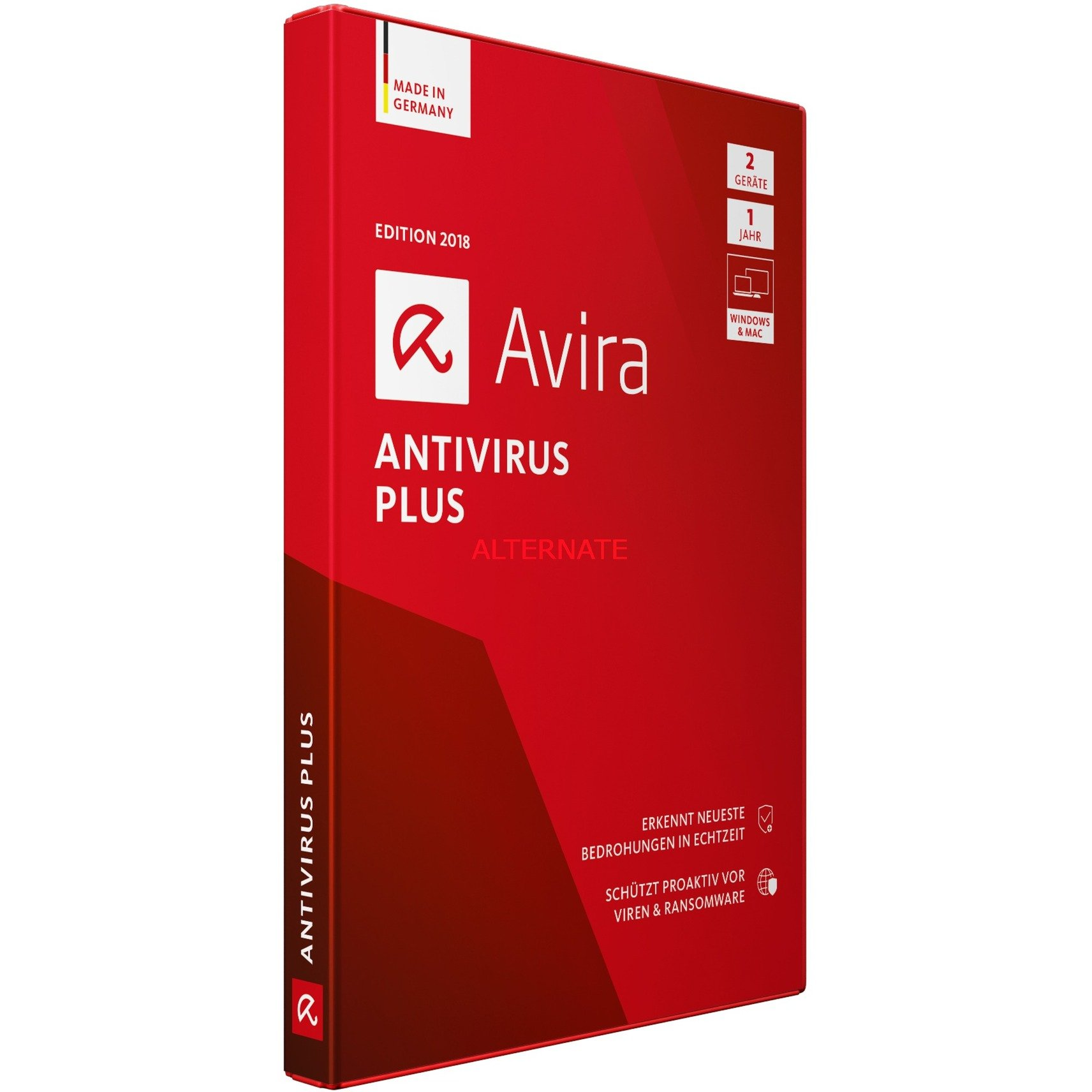AntiVirus Plus 2018 2usuario(s) Full license Alemán, Software