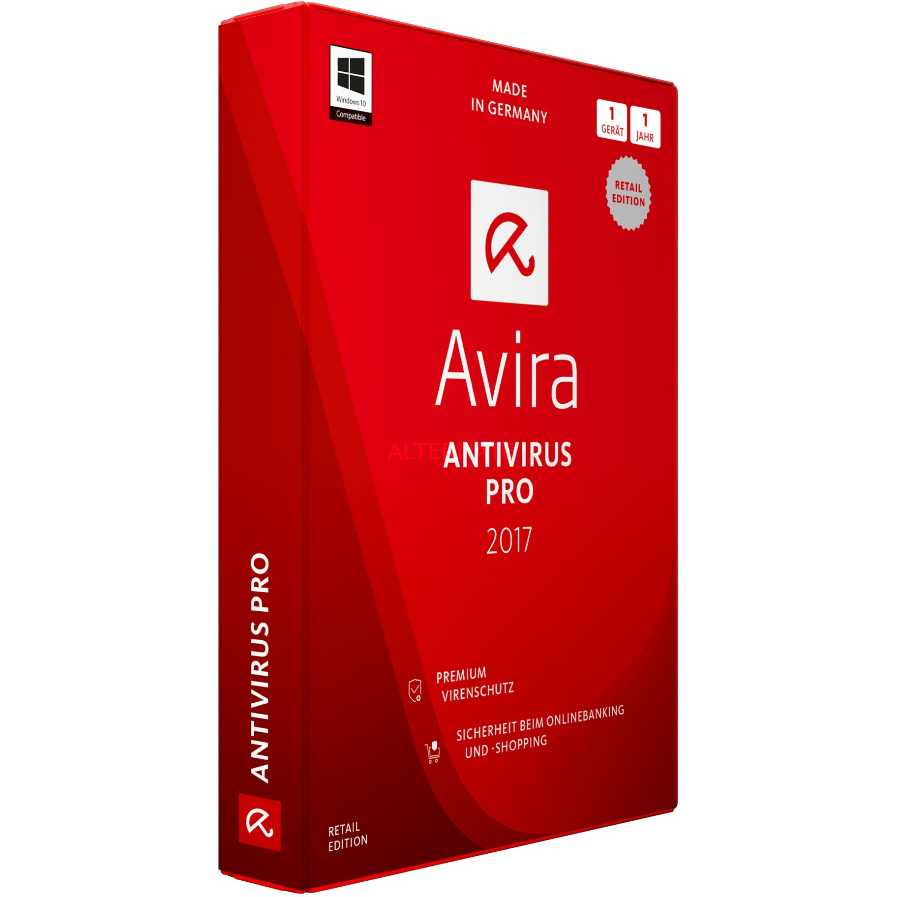 AntiVirus Pro 2017 Full license 1usuario(s) 1año(s) Alemán, Software
