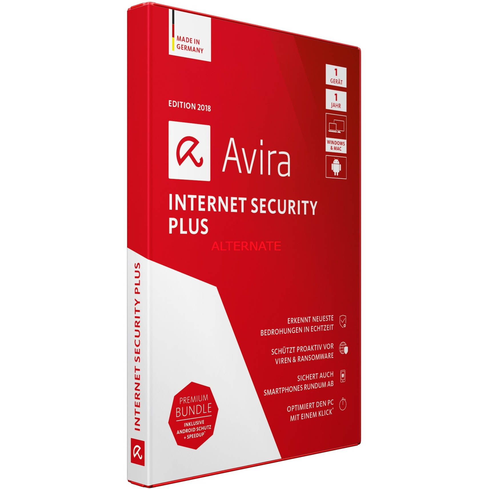 Internet Security Plus 2018 1usuario(s) Full license Alemán, Software