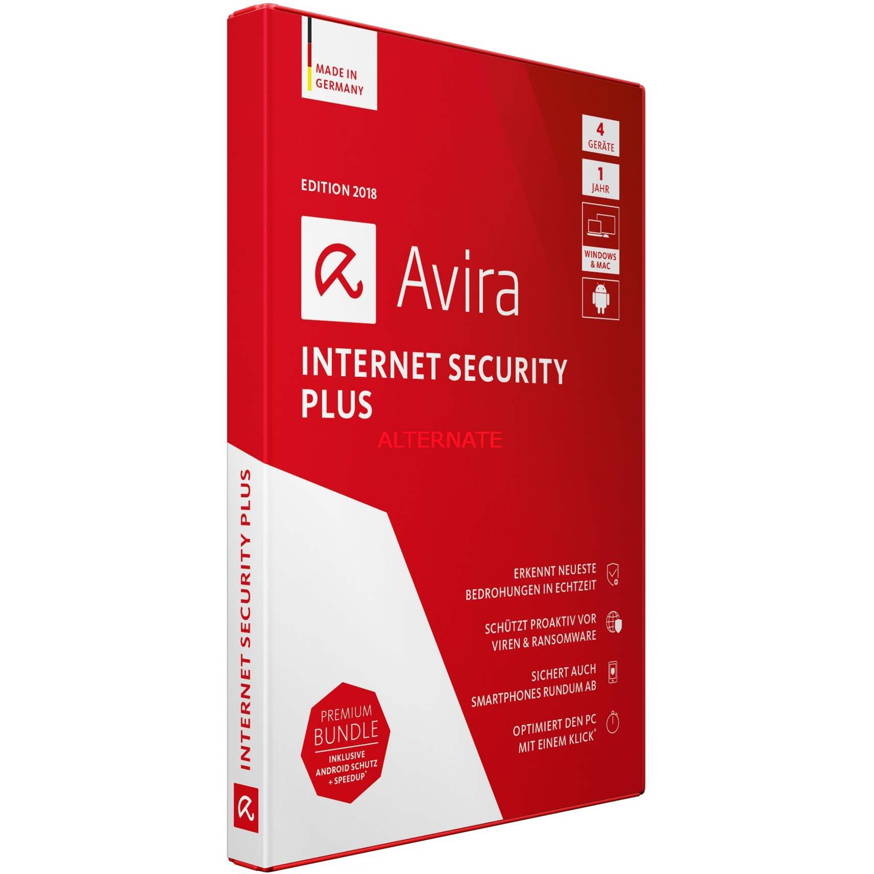 Internet Security Plus 2018 4usuario(s) Full license Alemán, Software