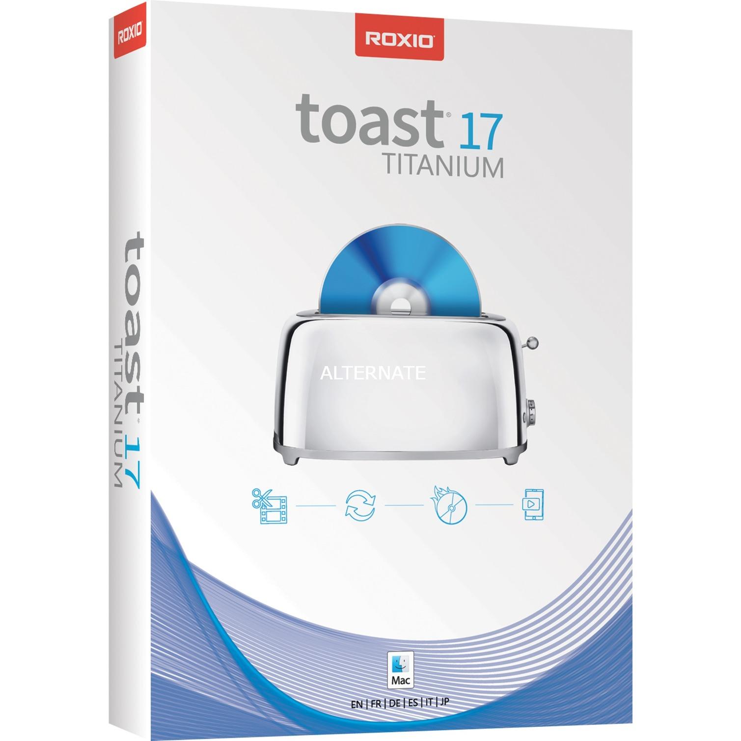 Roxio Toast 17 Titanium, Software