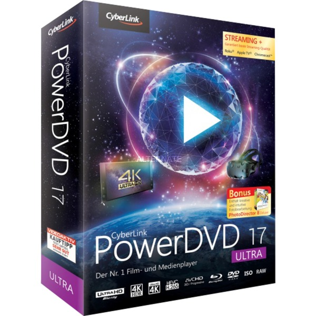 PowerDVD 17 Ultra, Software