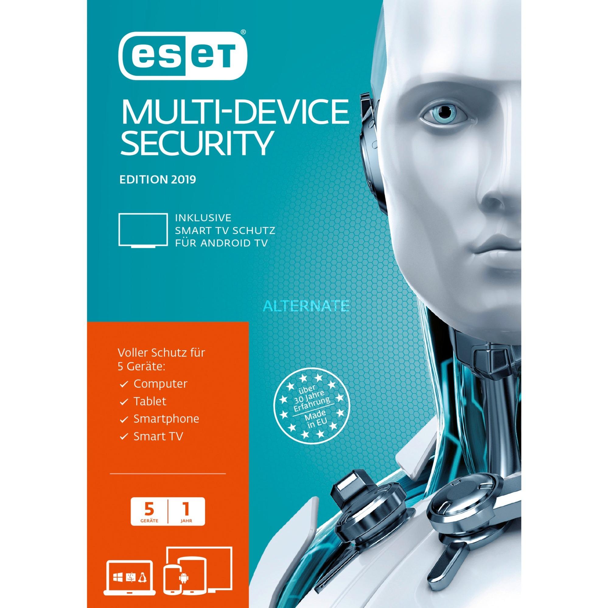 Multi-Device Security 2019, 5u 5 licencia(s) Caja Alemán, Software