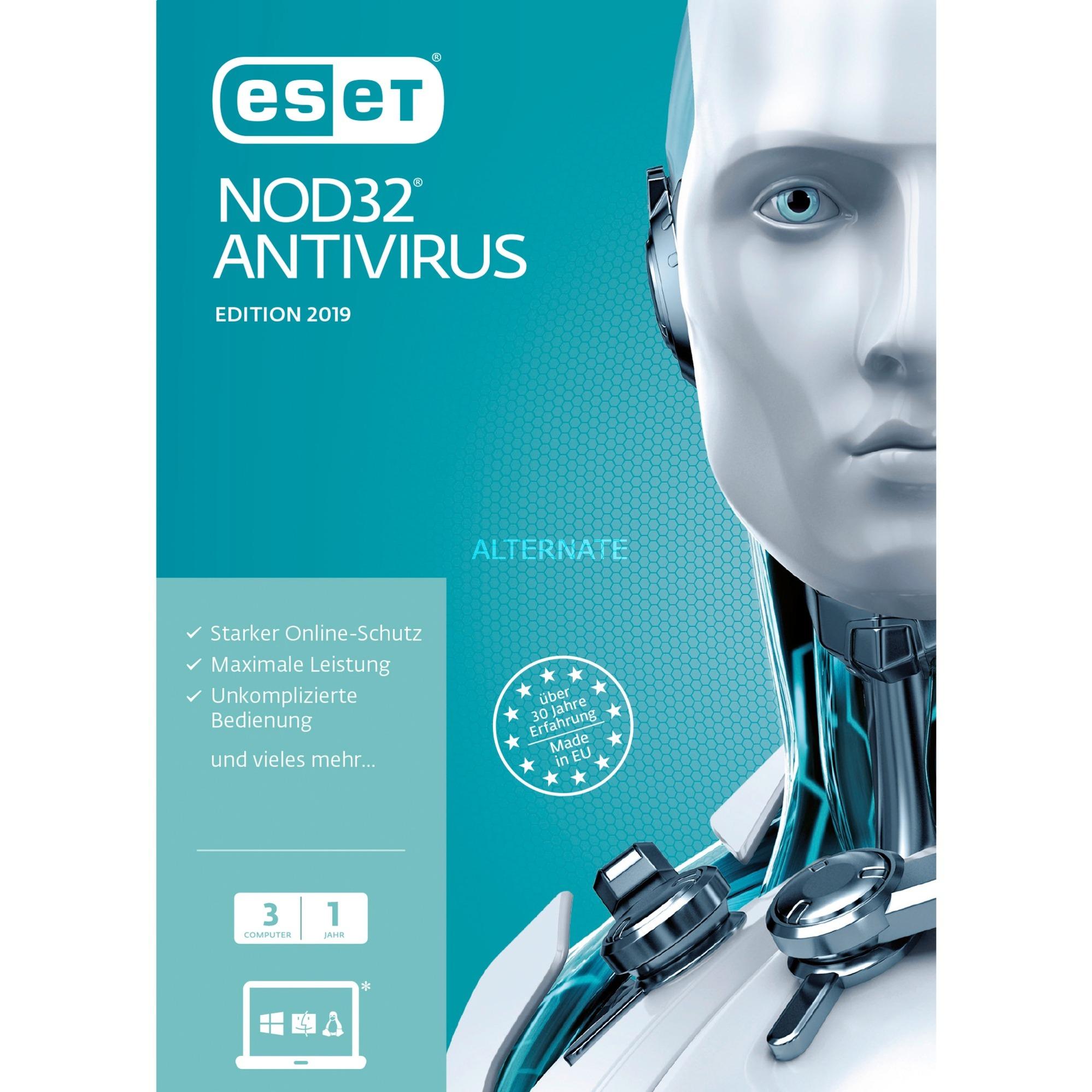NOD32 Antivirus 2019, 3u, Software