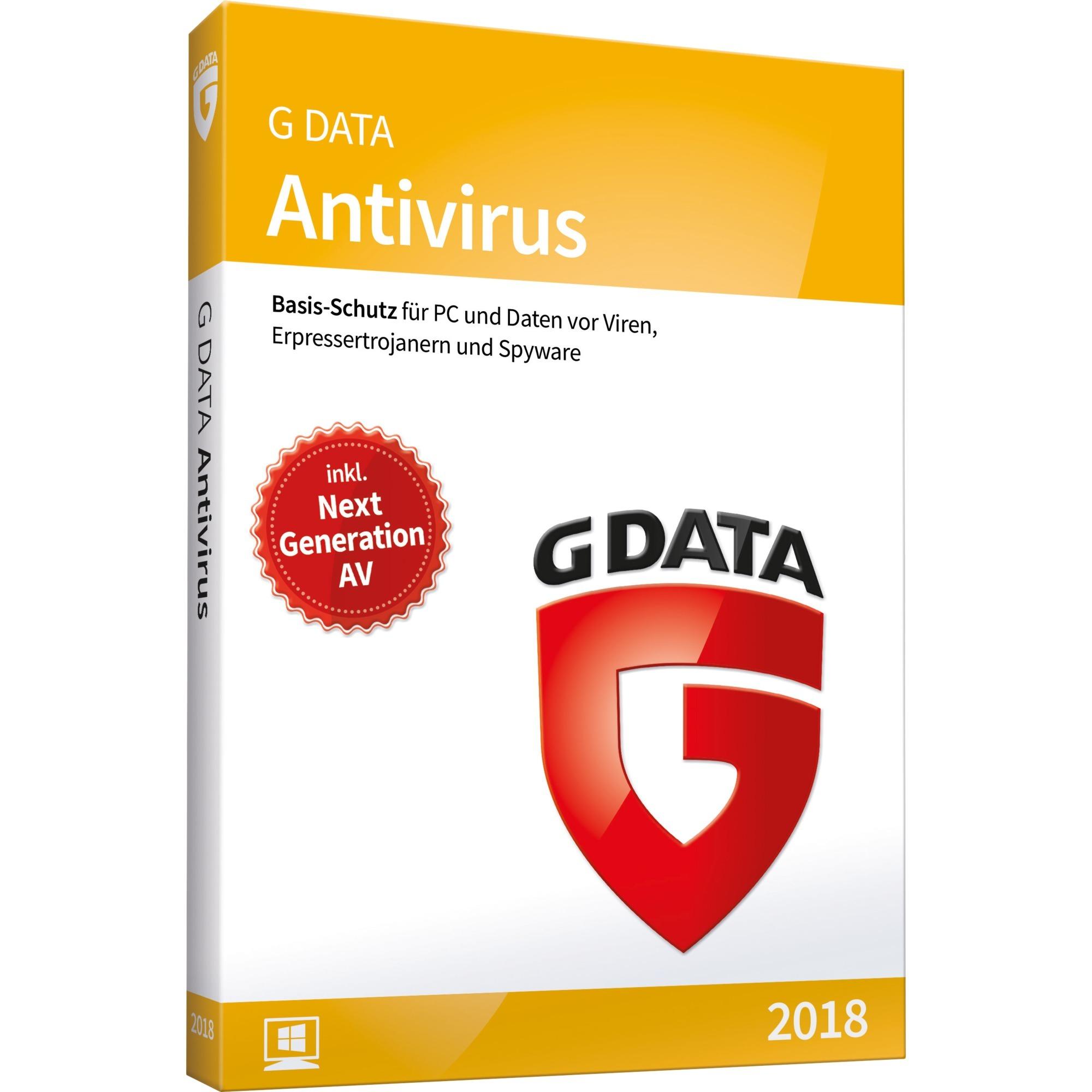 Antivirus 2018 1licencia(s) Caja Alemán, Software