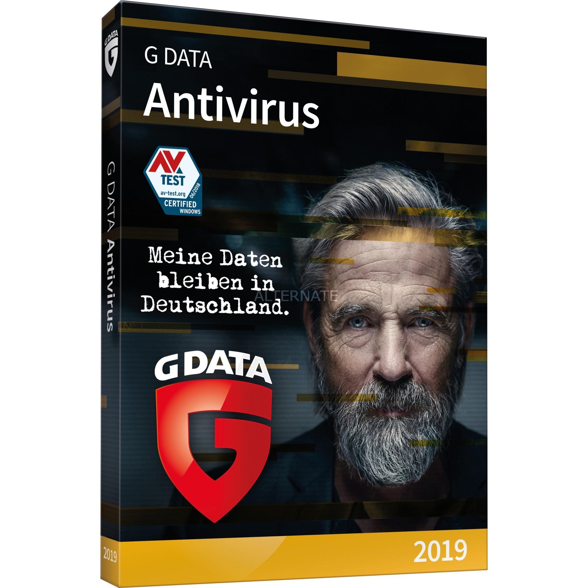 GDATA ANTIVIRUS 2019 - 1 PC 1 Jahr BOX 1 año(s), Software