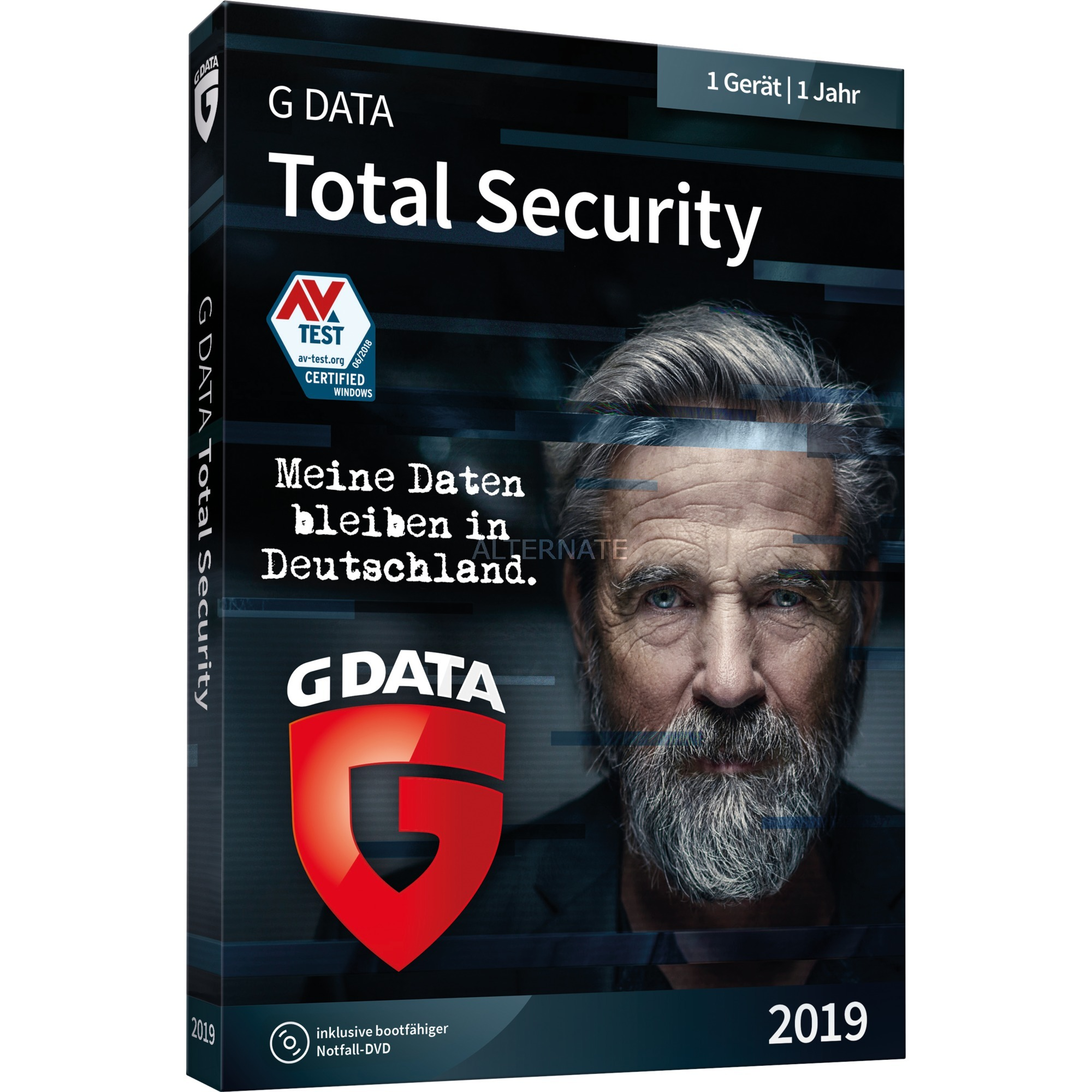 GDATA TOTAL SECURITY 2019 - 1 PC 1 Jahr BOX 1 año(s) Alemán, Software
